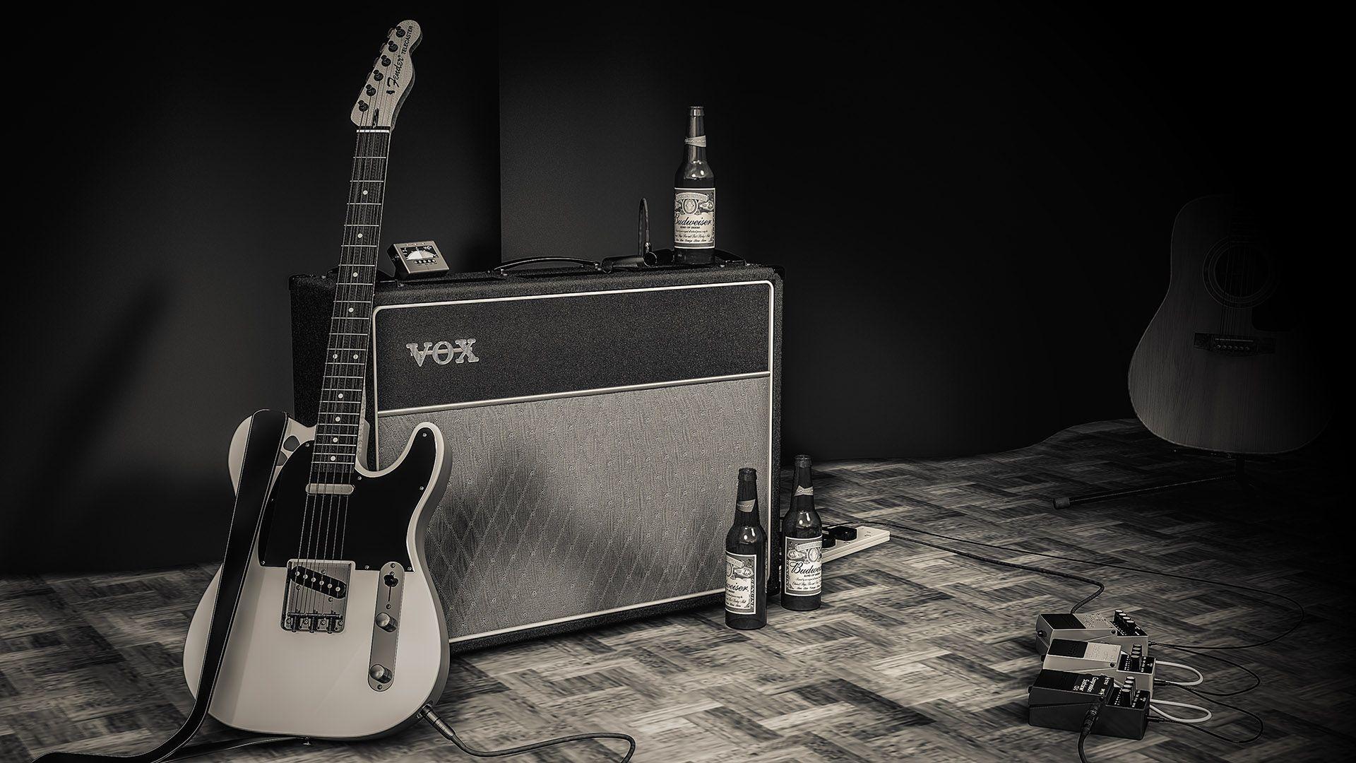 Fender Guitar, Free Wallpaper