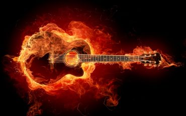 Fire Guitar, Good Wallpaper