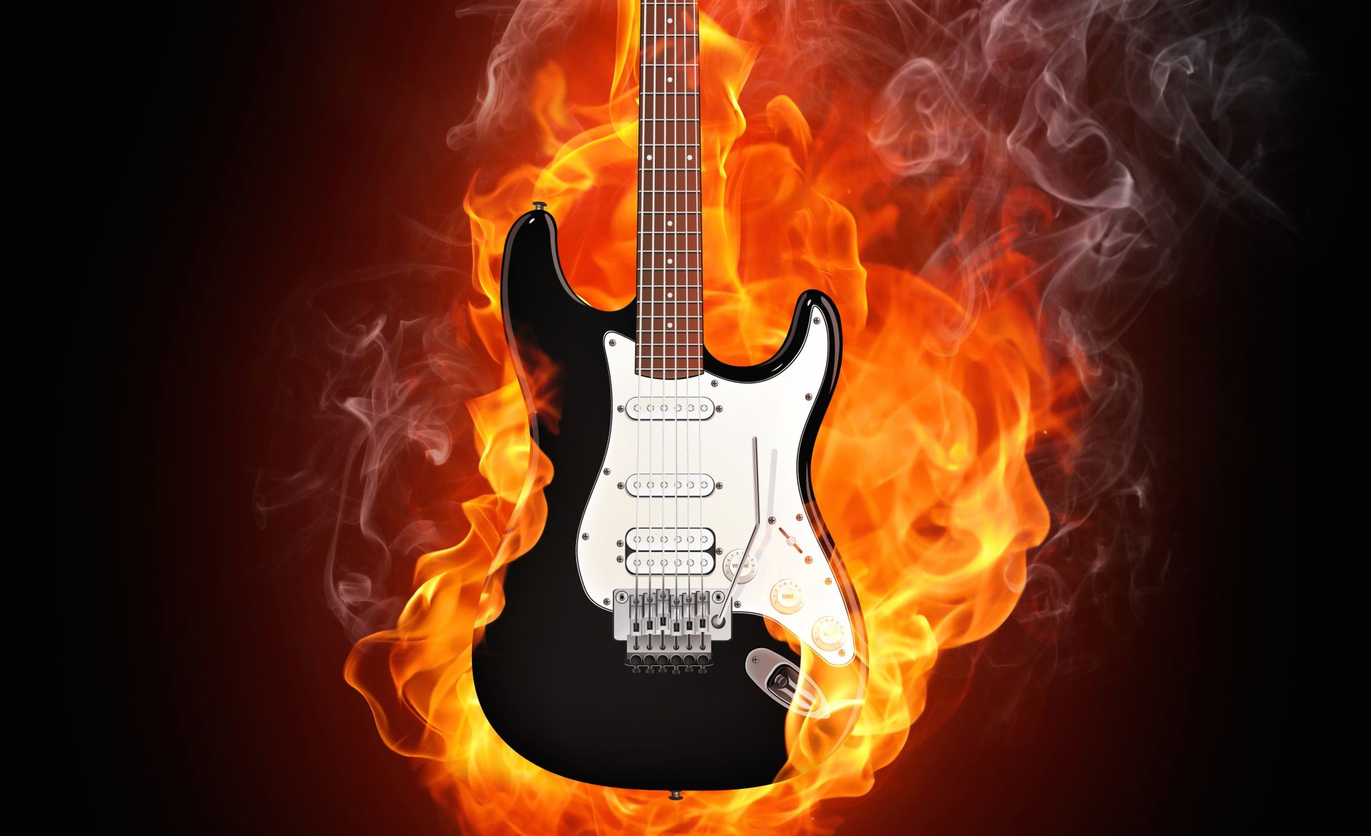 Fire Guitar, Wallpaper Theme