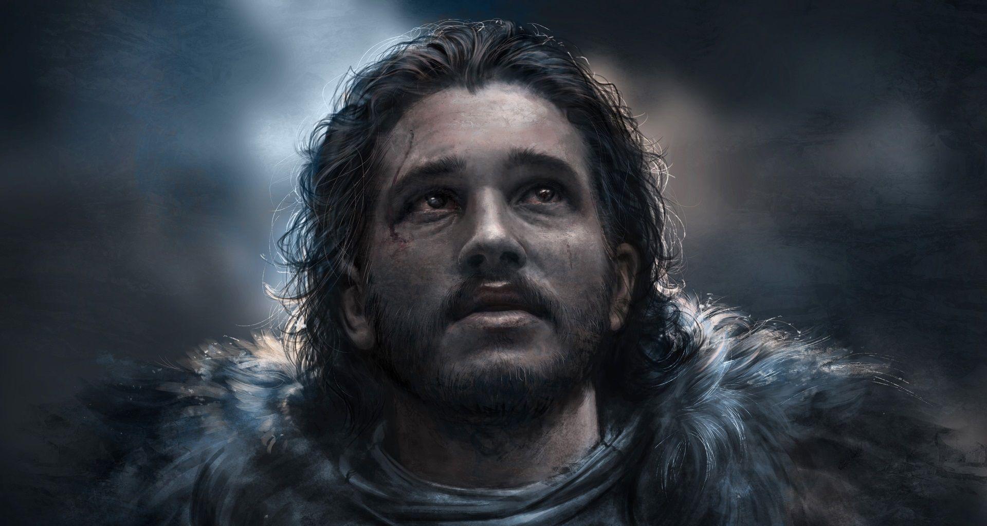 art from Game of Thrones Jon Snow