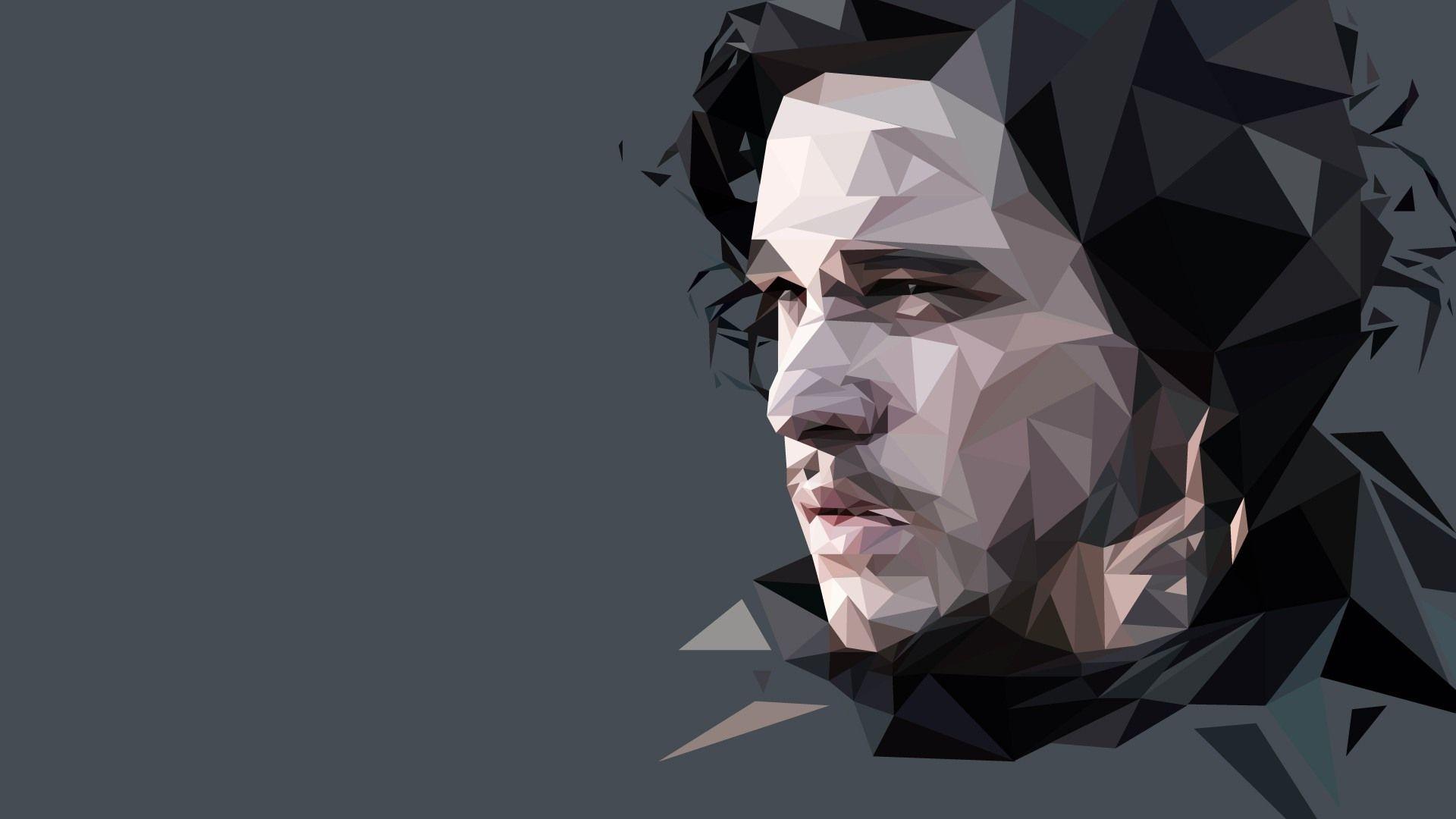 Jon Snow polygon art
