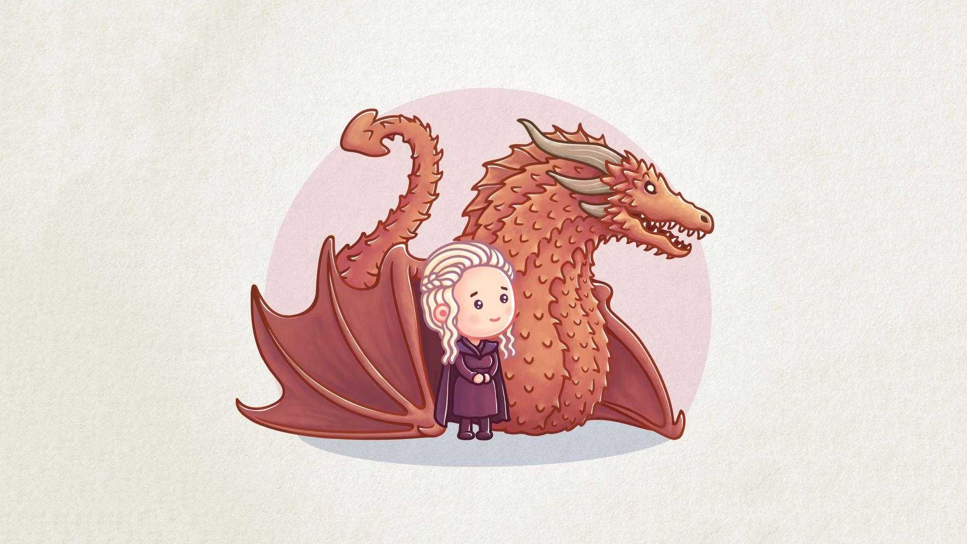 Game of Thrones Daenerys Targaryen chibi fan art