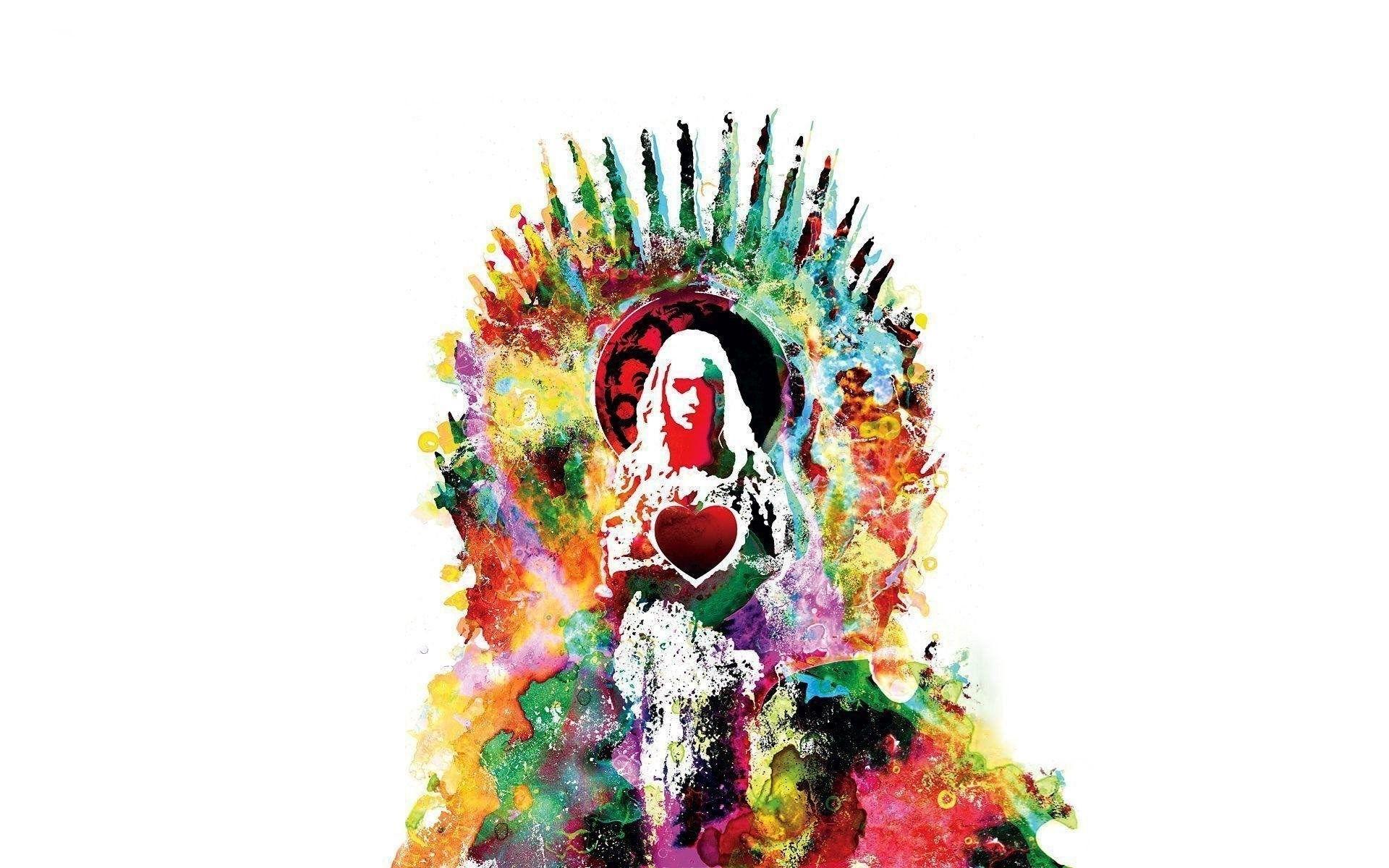 Daenerys Targaryen colorful fan art