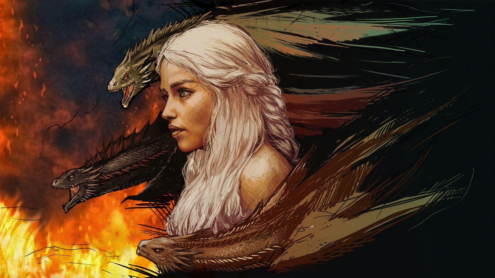Game of Thrones Daenerys Dragon art