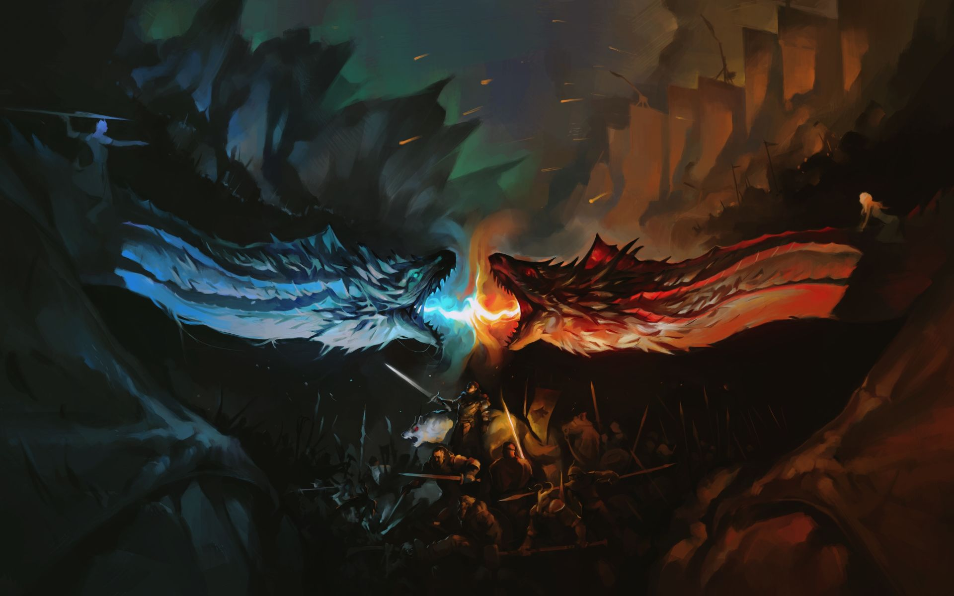 Game of Thrones two dragons