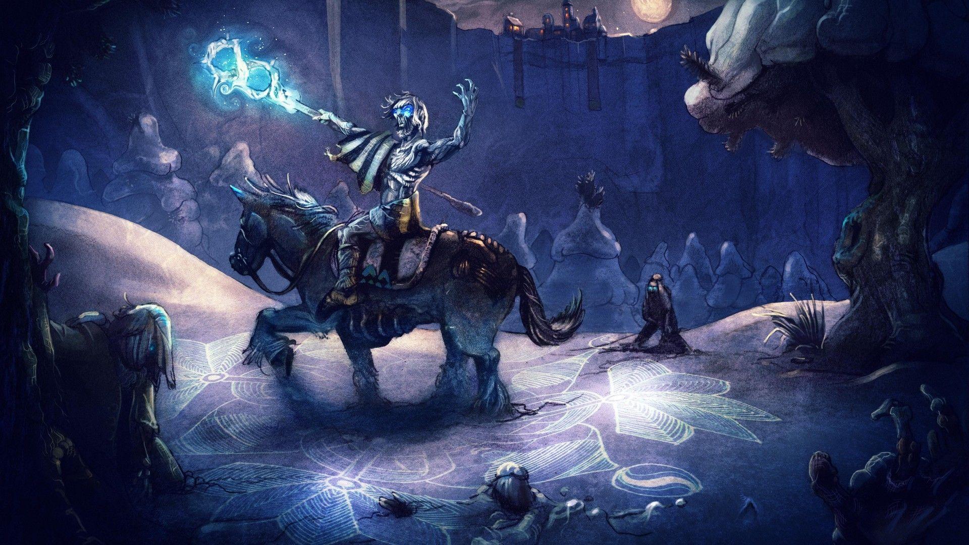 Game of Thrones white walker on horse