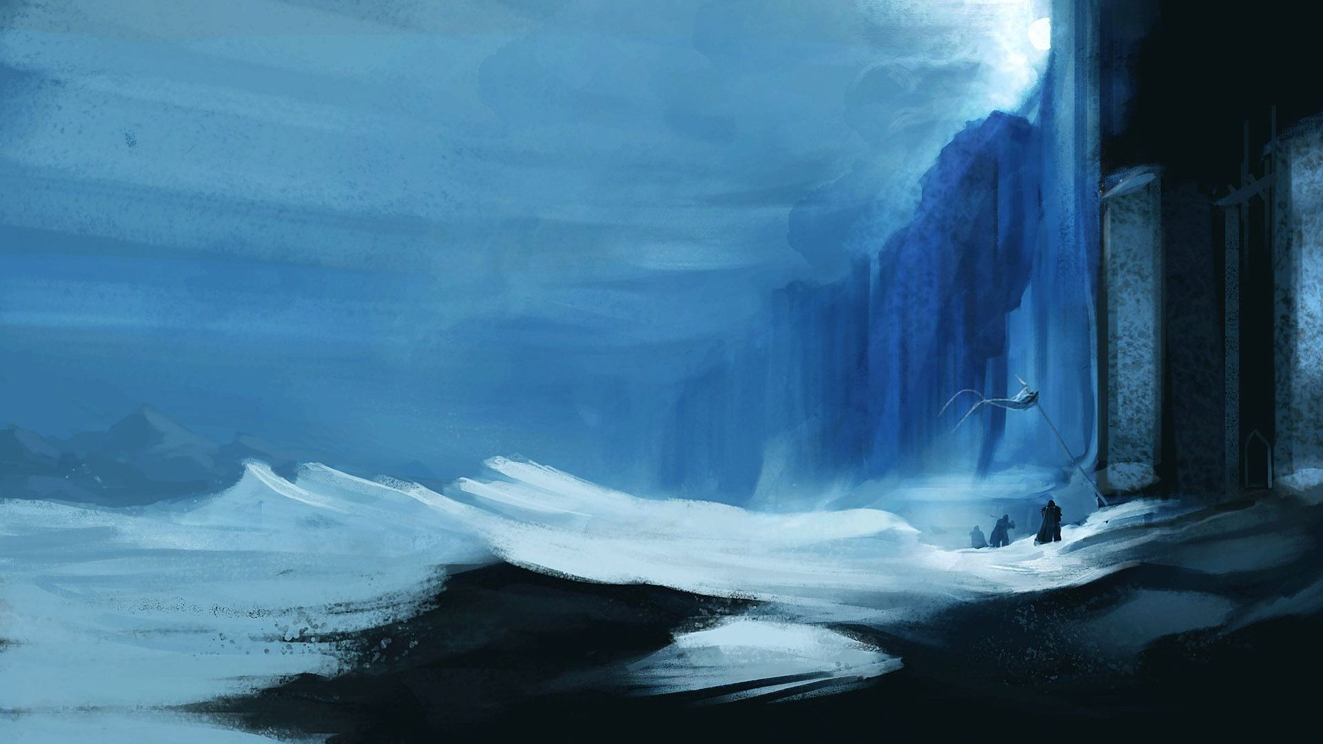 Game of Thrones blue wall fan art