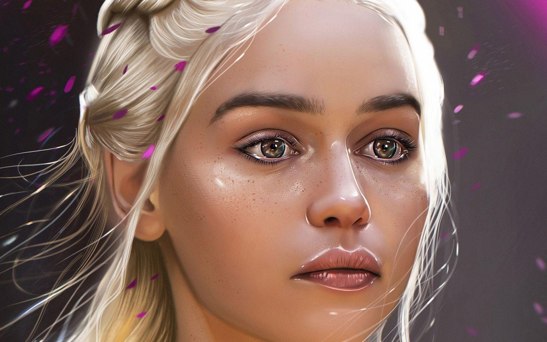 Game of Thrones Daenerys Targaryen face art