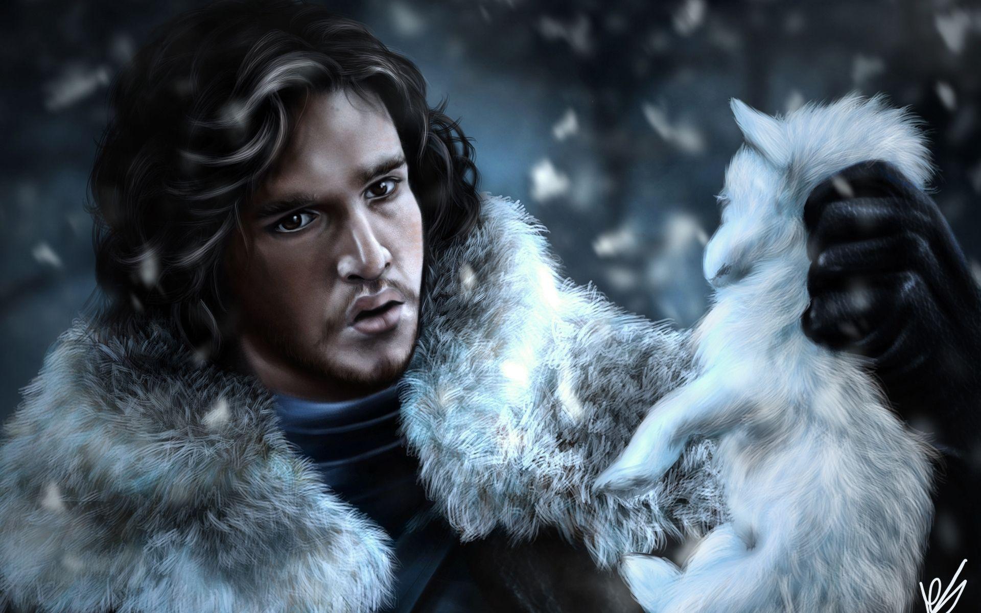 Jon Snow and puppy art