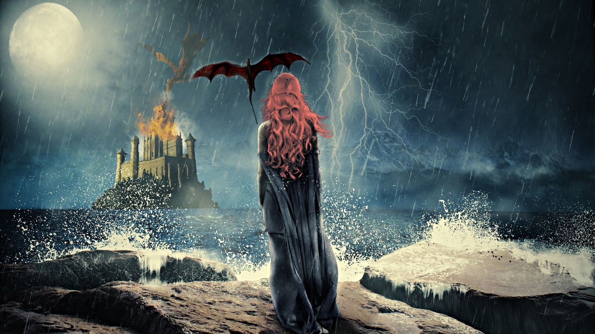 Game of Thrones Daenerys, rain