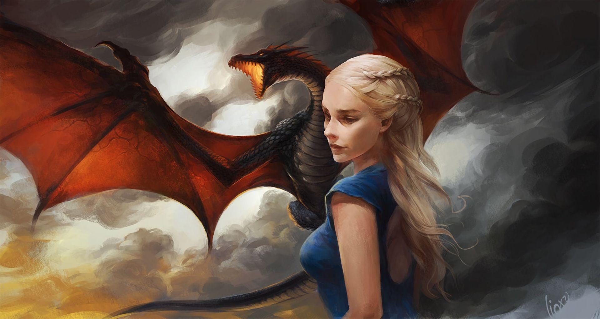 Game of Thrones Daenerys Targaryen dragon art