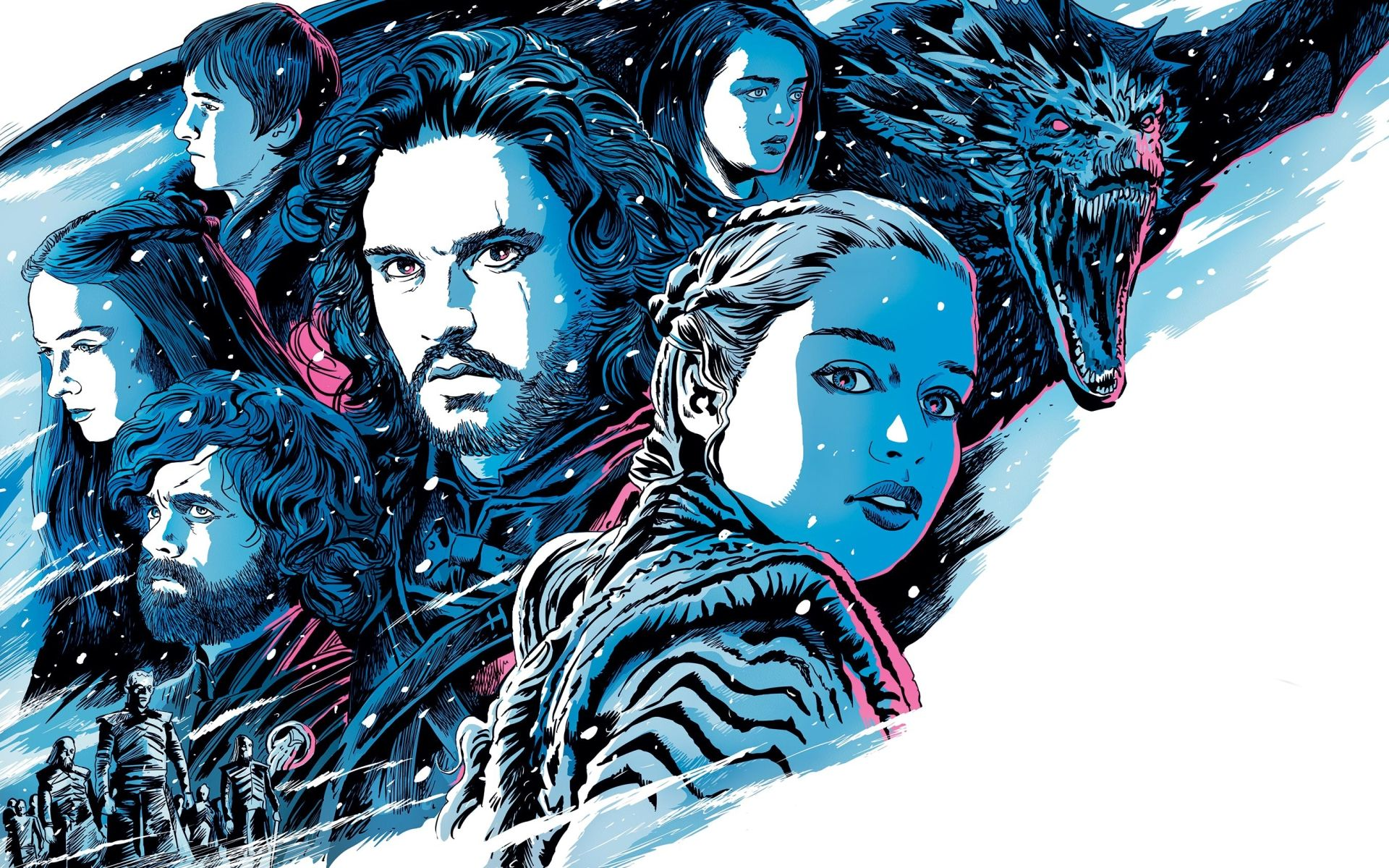 Game of Thrones Daenerys and Jon Snow fanart