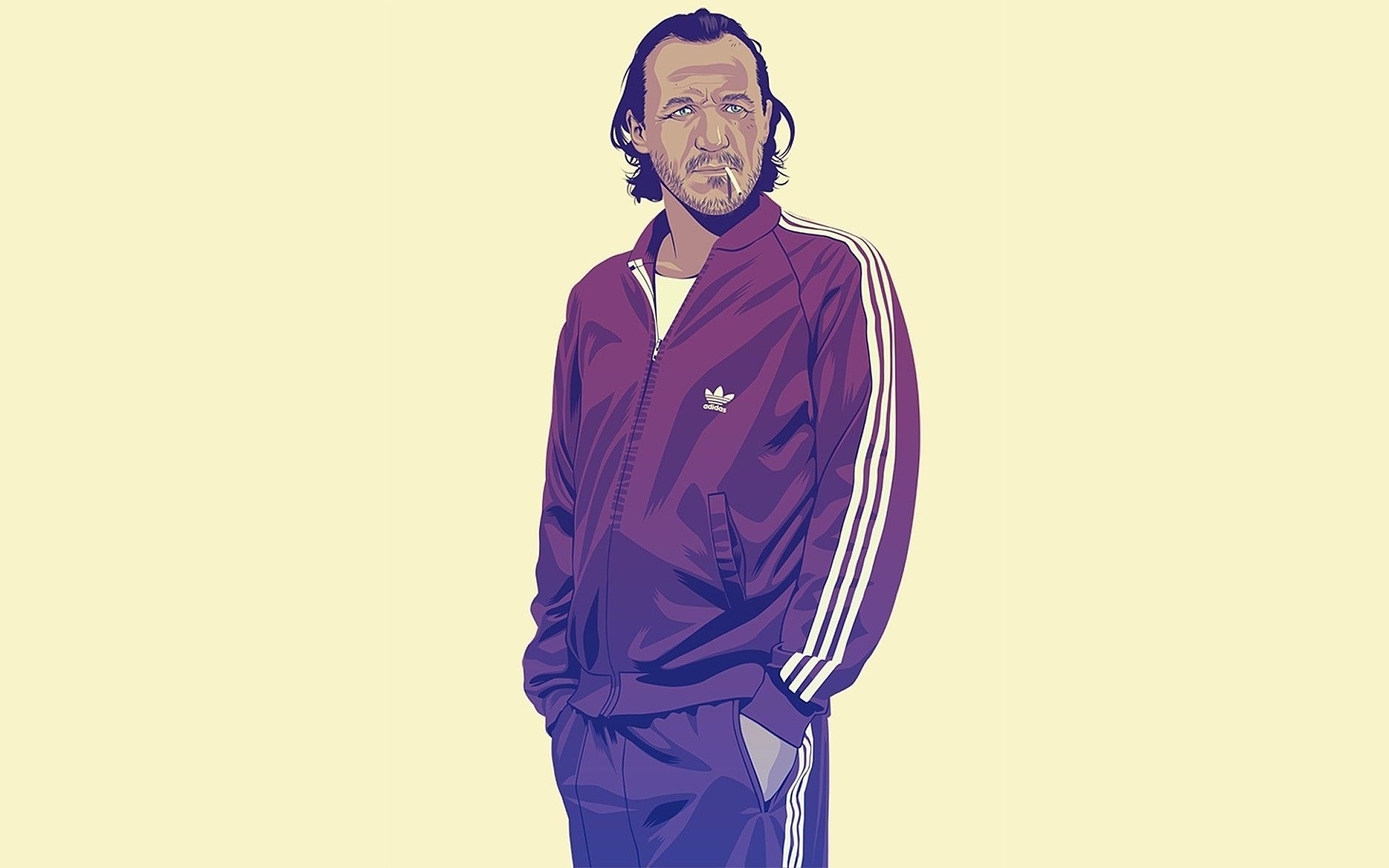 Game of Thrones Adidas tracksuit, illustration, vector