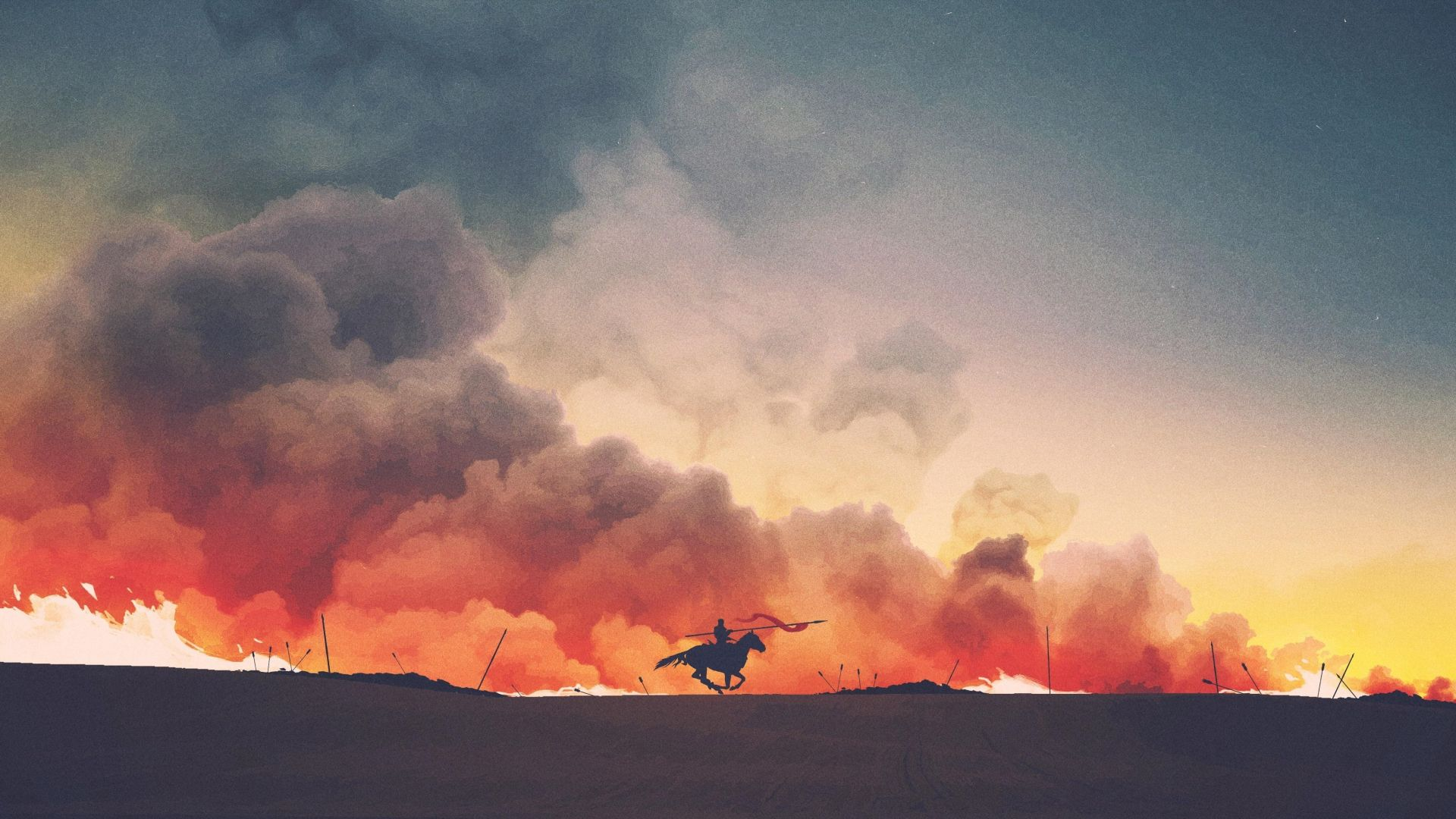 Game of Thrones Horseman Minimalist art