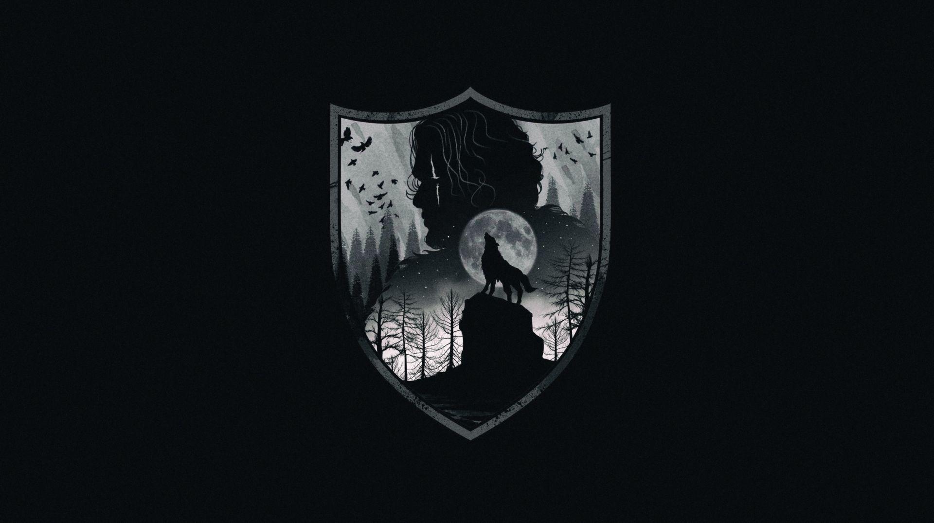 Game of Thrones shield illustration minimalist