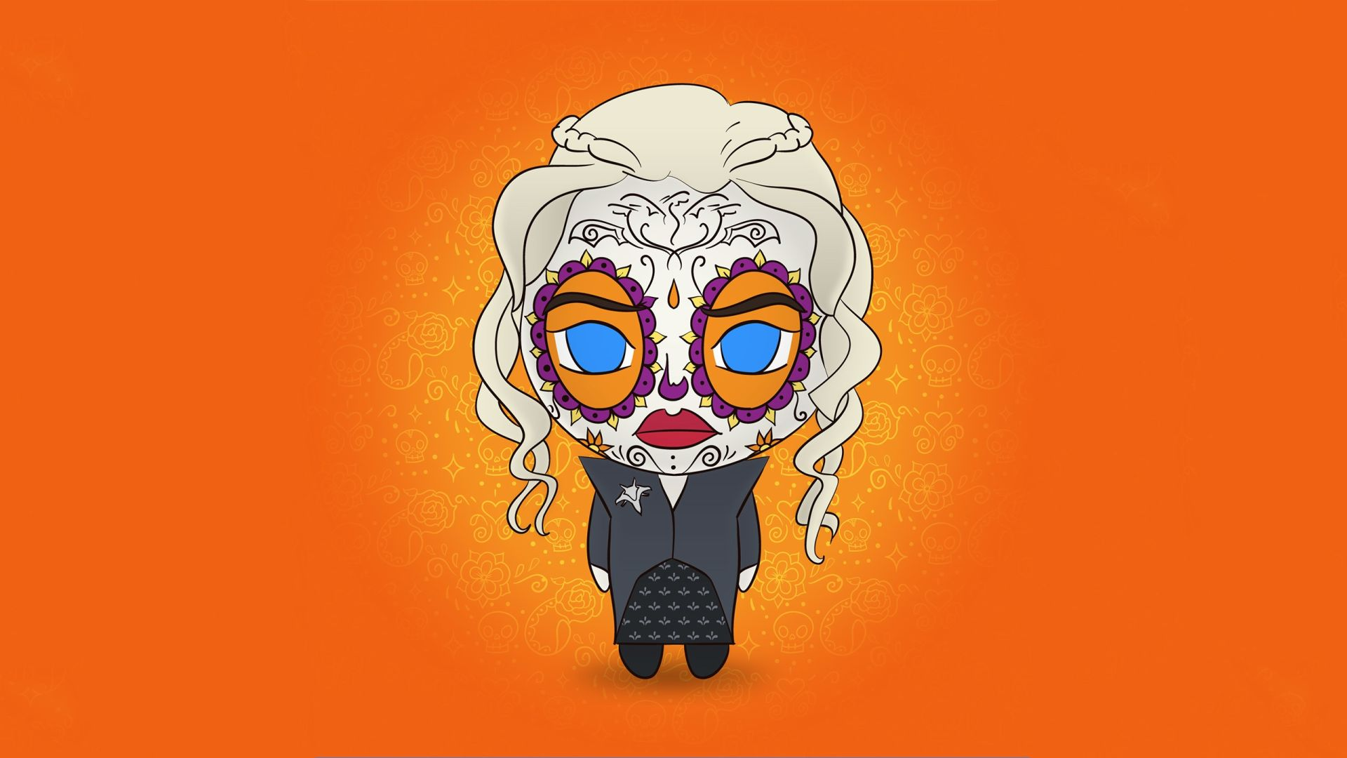 Game of Thrones chibi Daenerys illustration fan art