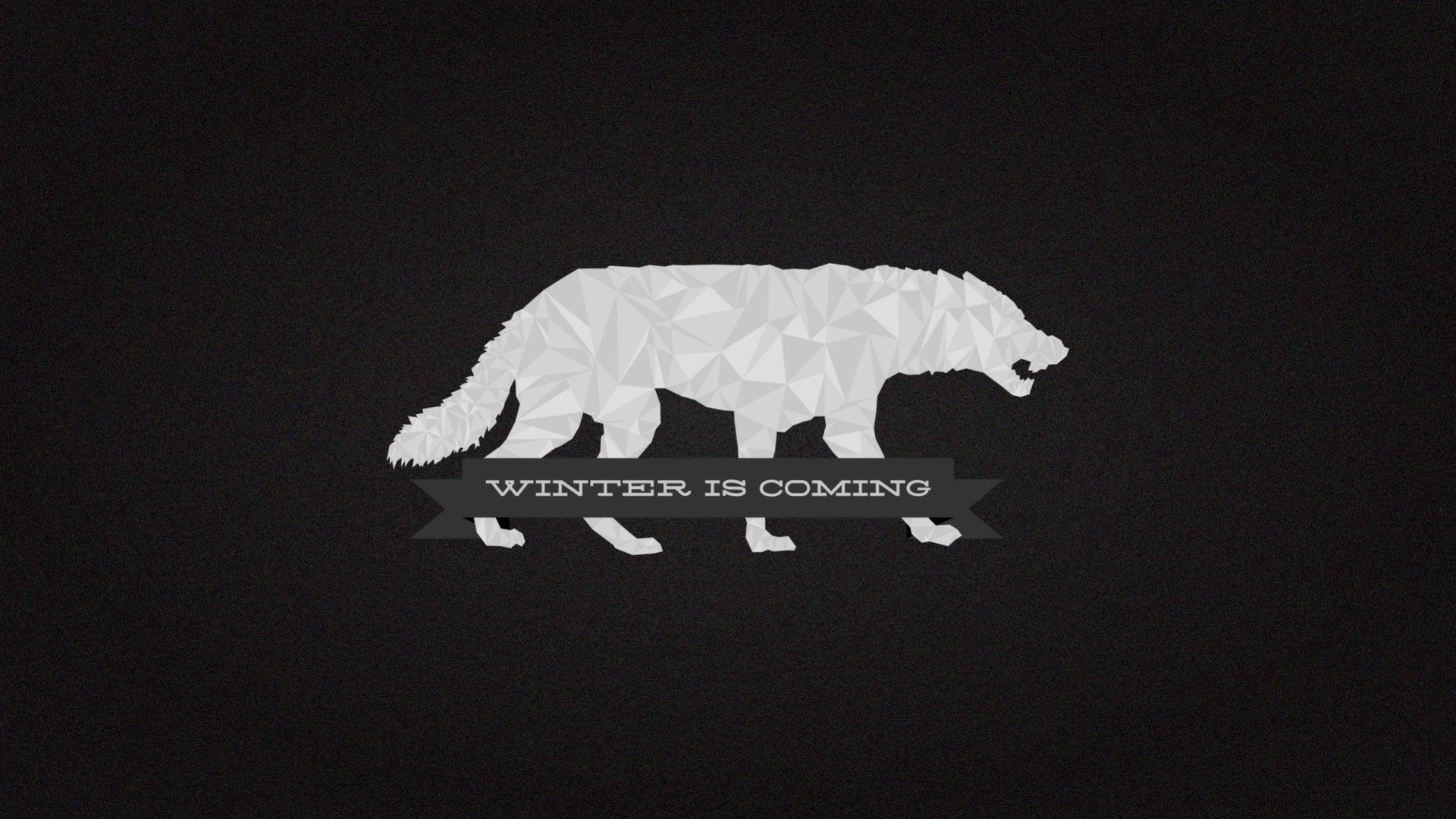 Game of Thrones wolf minimalist