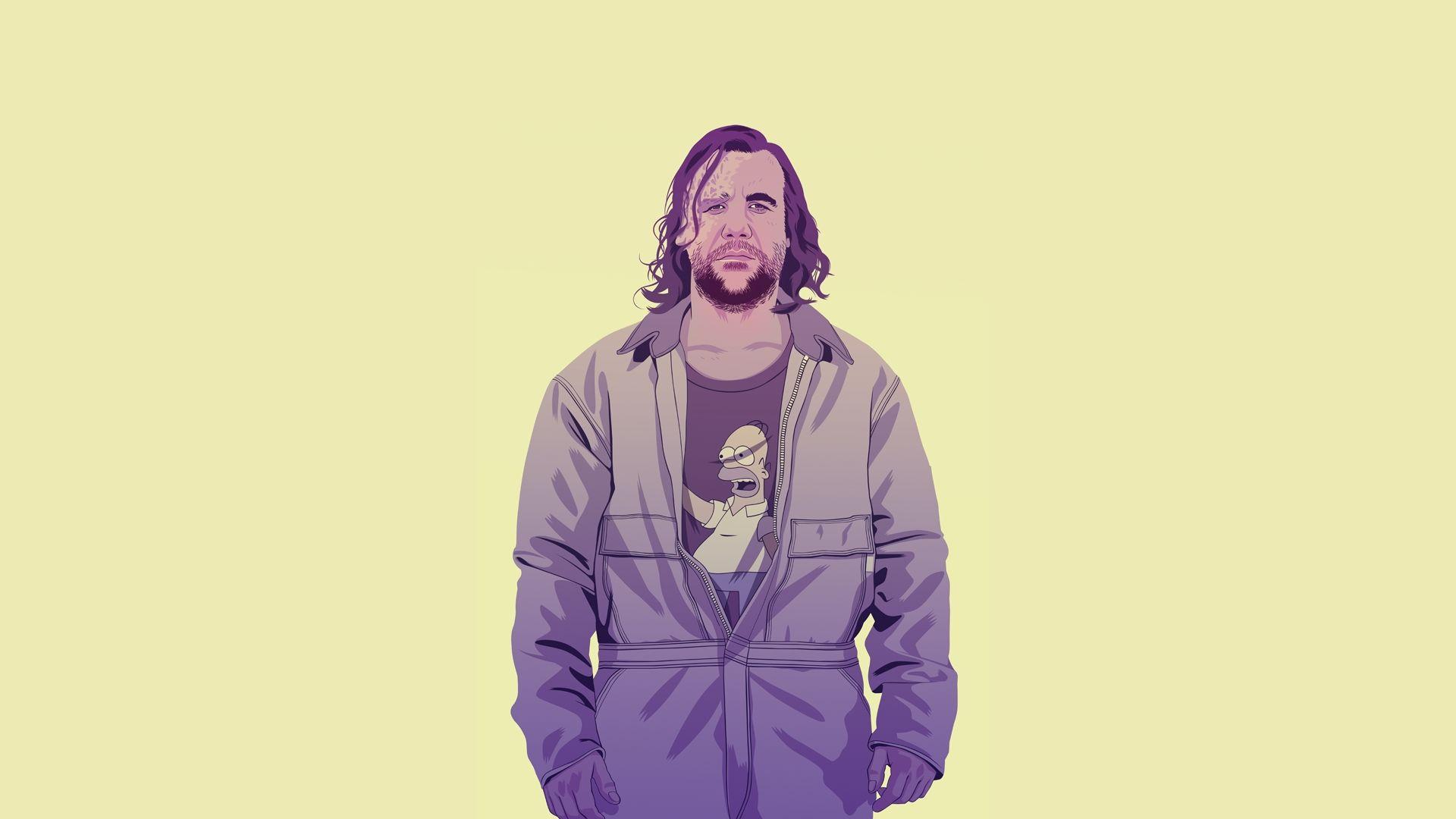 Sandor Clegane in Adidas tracksuit, illustration