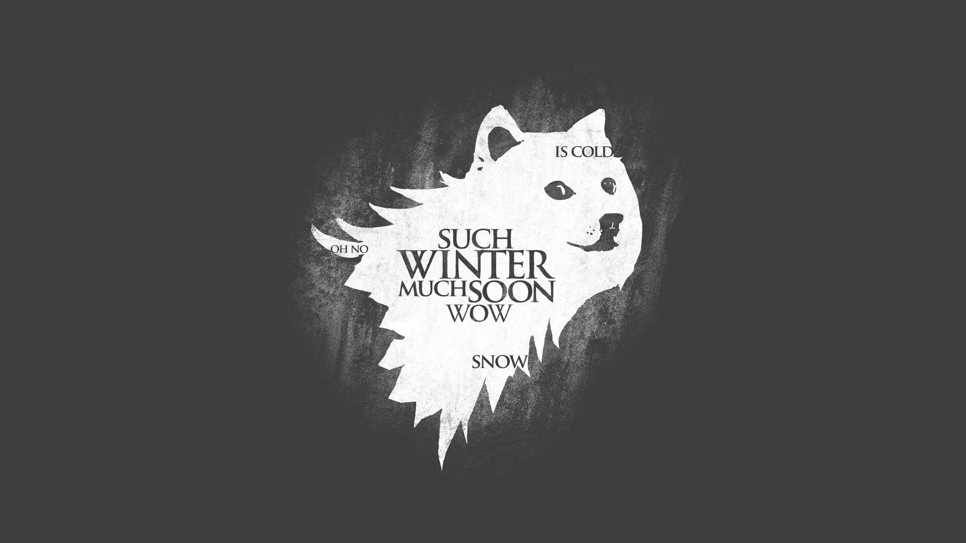 Game of Thrones House Stark Minimalist such winter wow dog