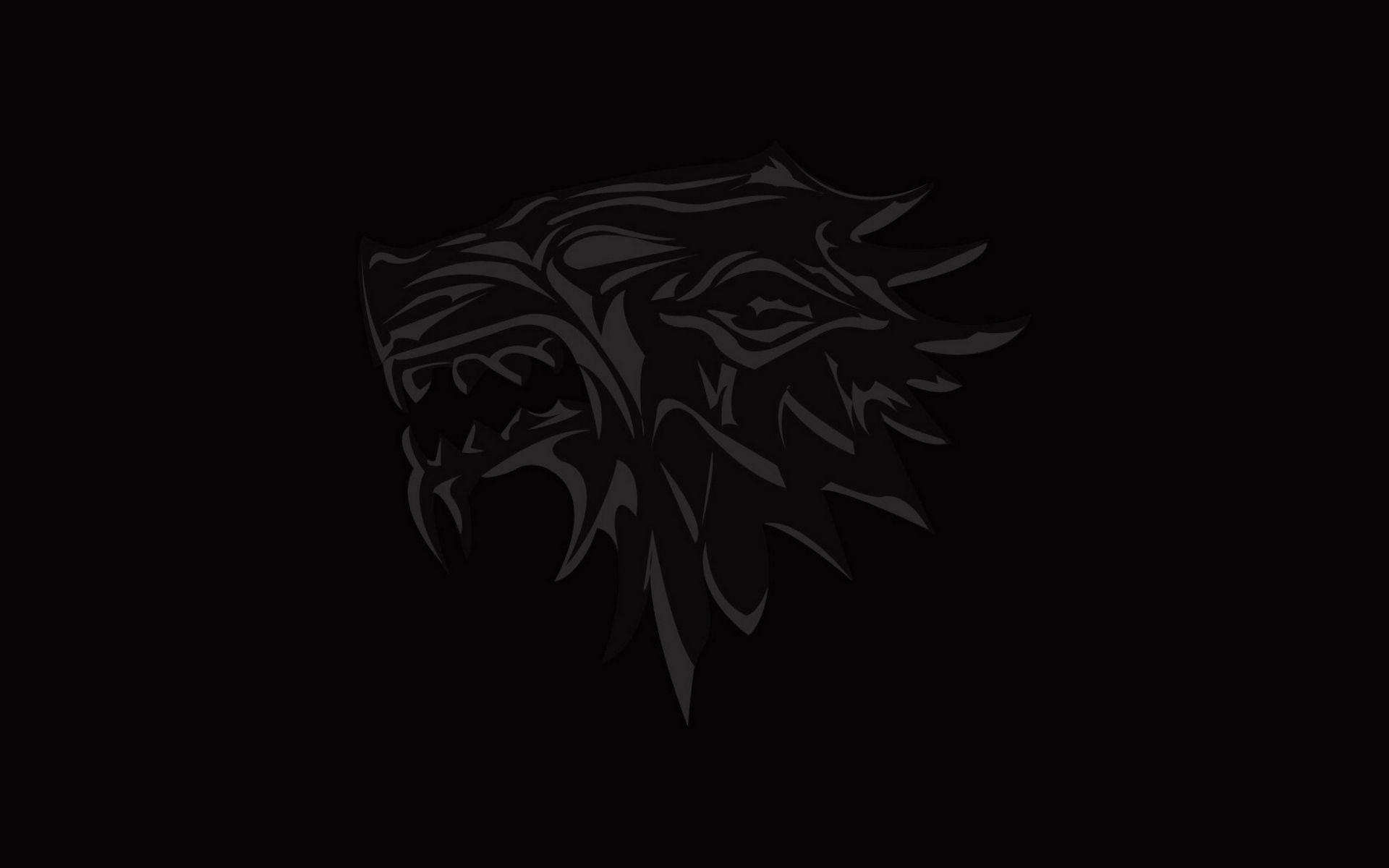 Game of Thrones Black House Stark Minimalist