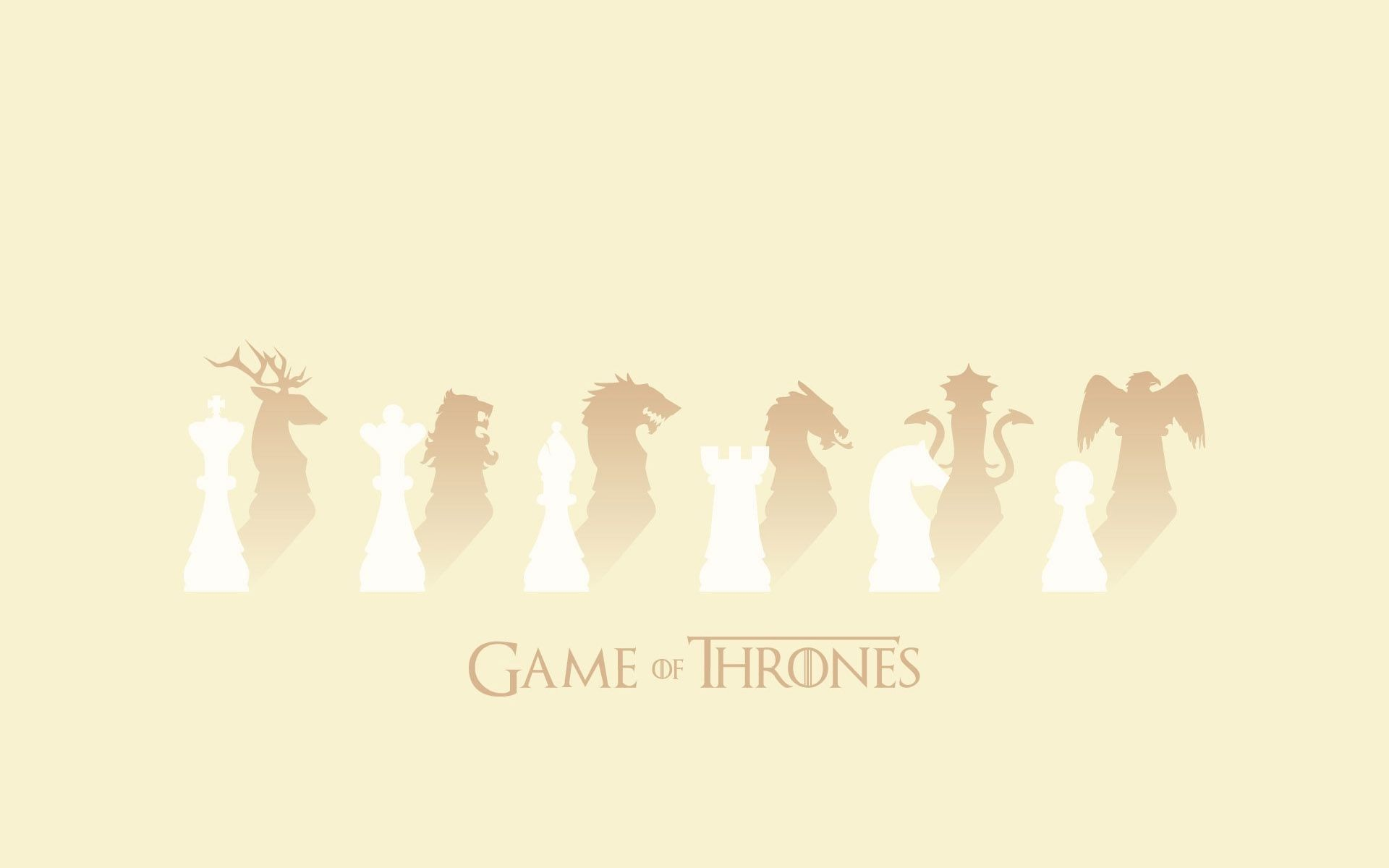 Game of Thrones Sigils chess minimalist