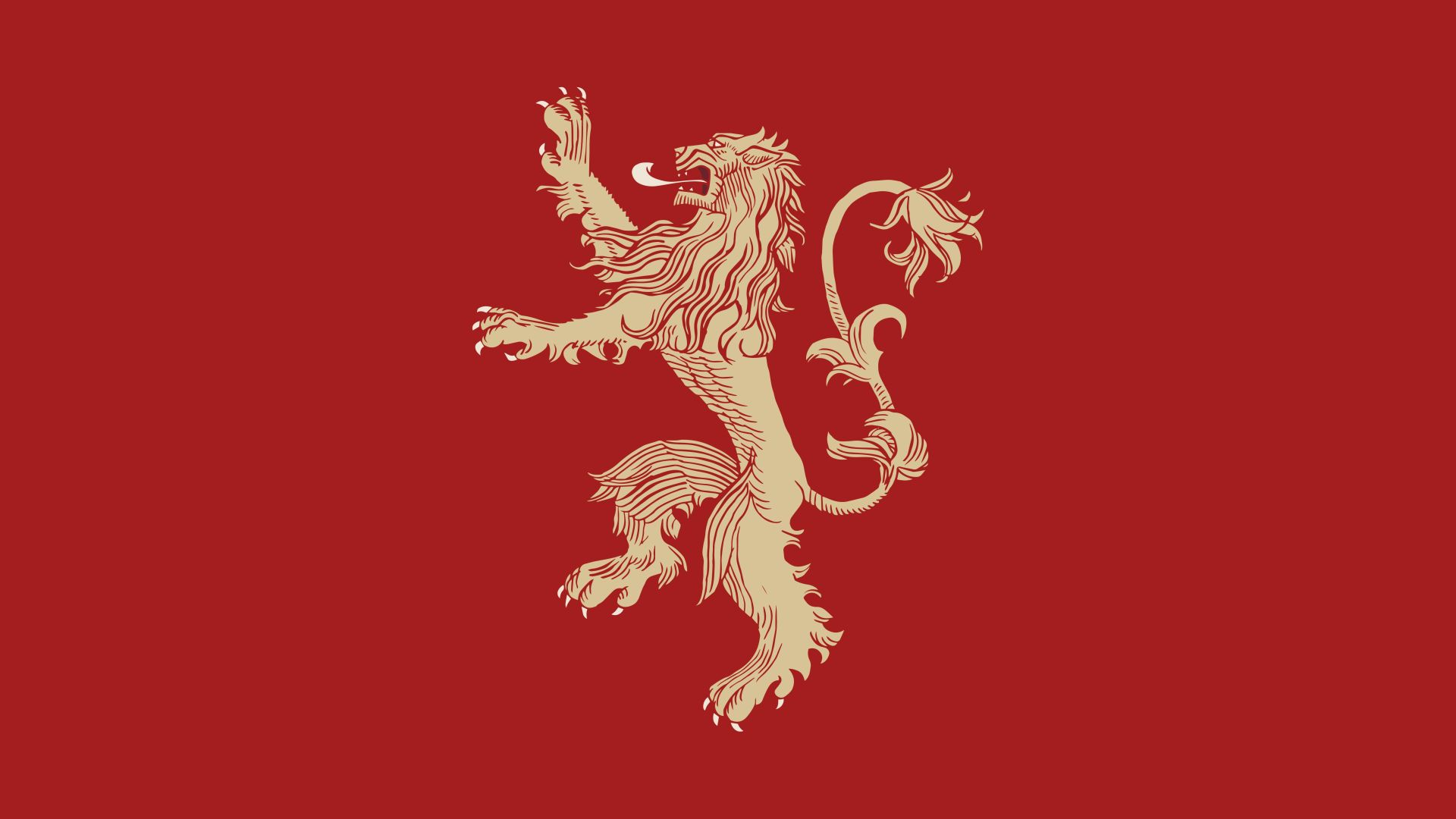 Game of Thrones Lannister House Minimalist