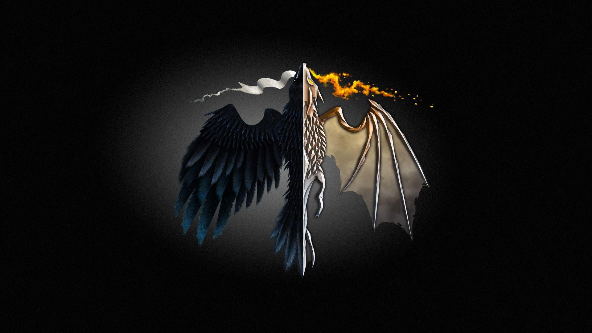 Game of Thrones Dragons minimalist art