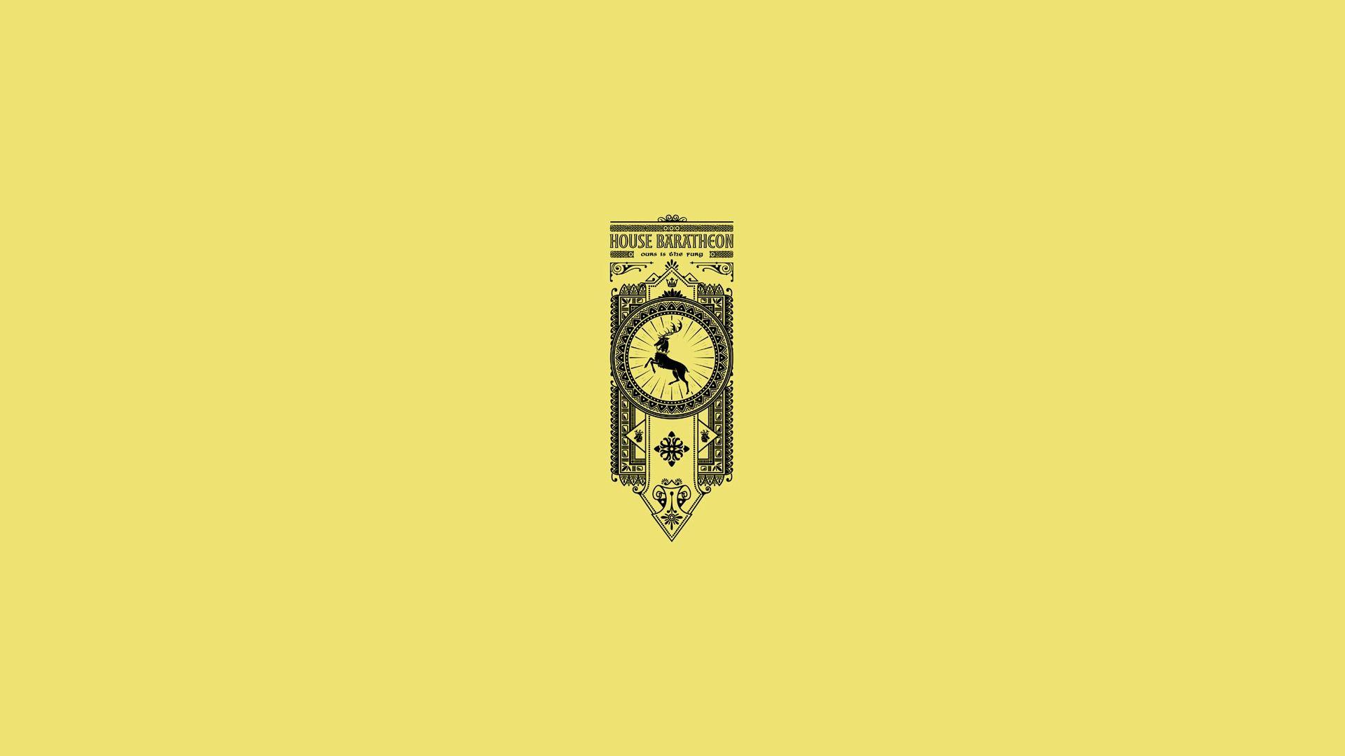 Game of Thrones House Baratheon minimalist banner