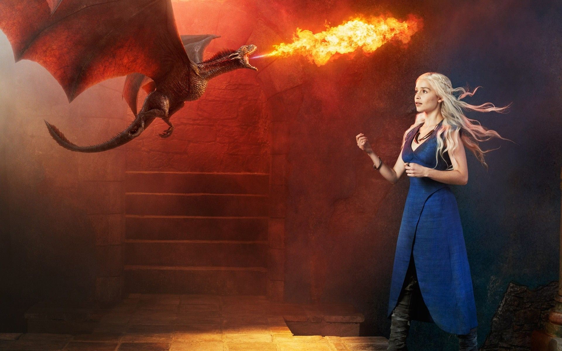 Game of Thrones daenerys and small dragon wallpaper