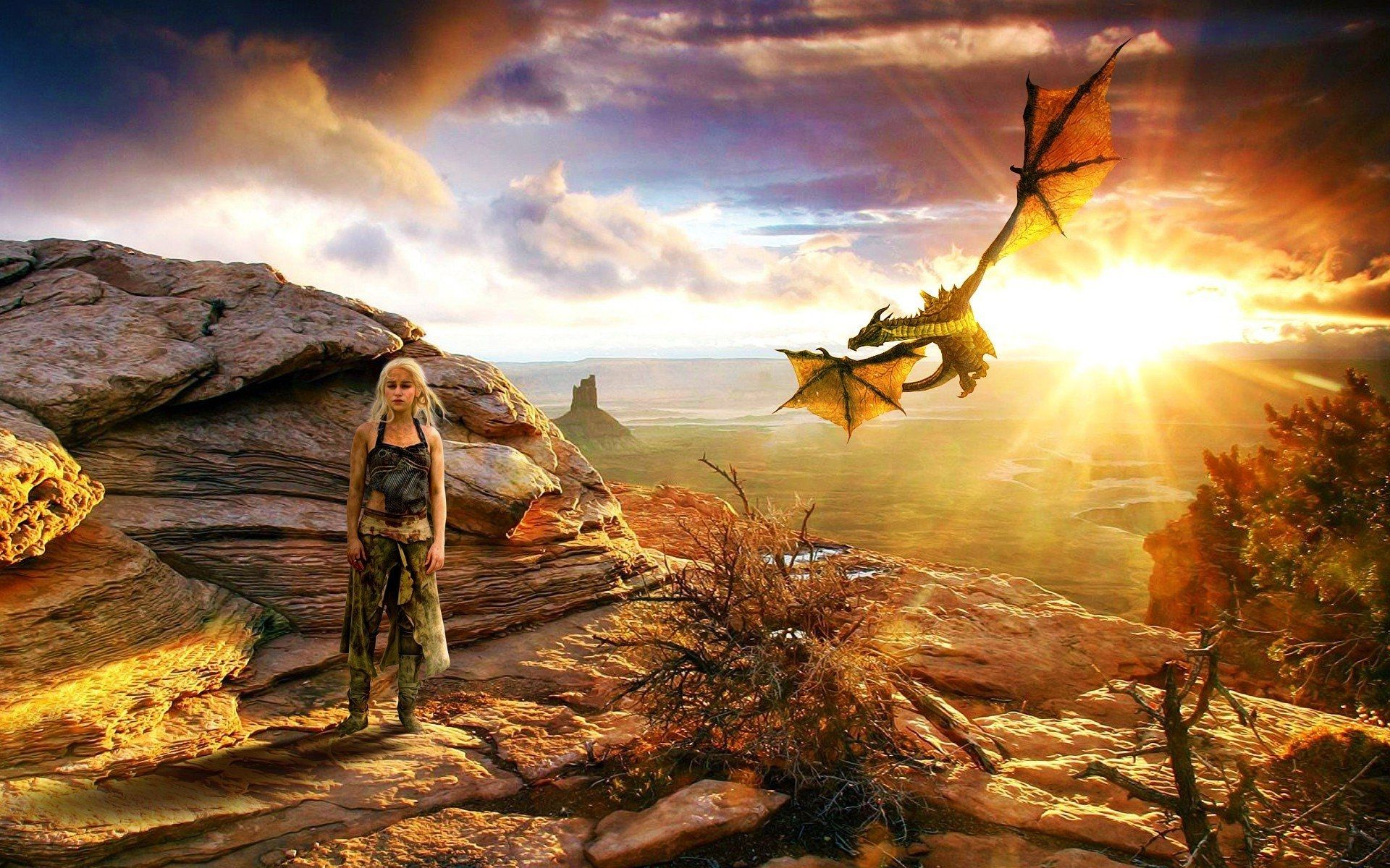 Game of Thrones Daenerys and dragon wallpaper