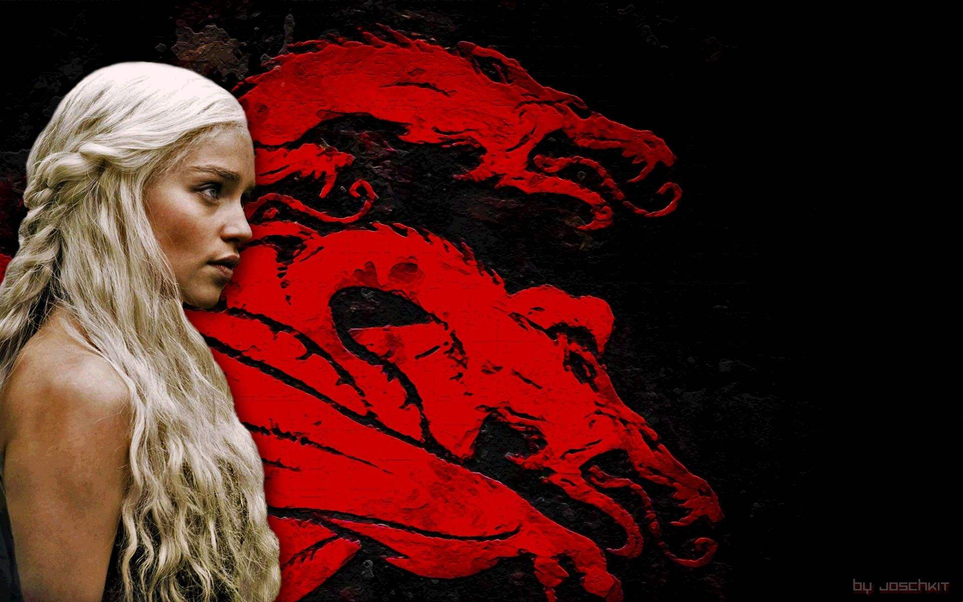 Game of Thrones Daenerys and red dragon