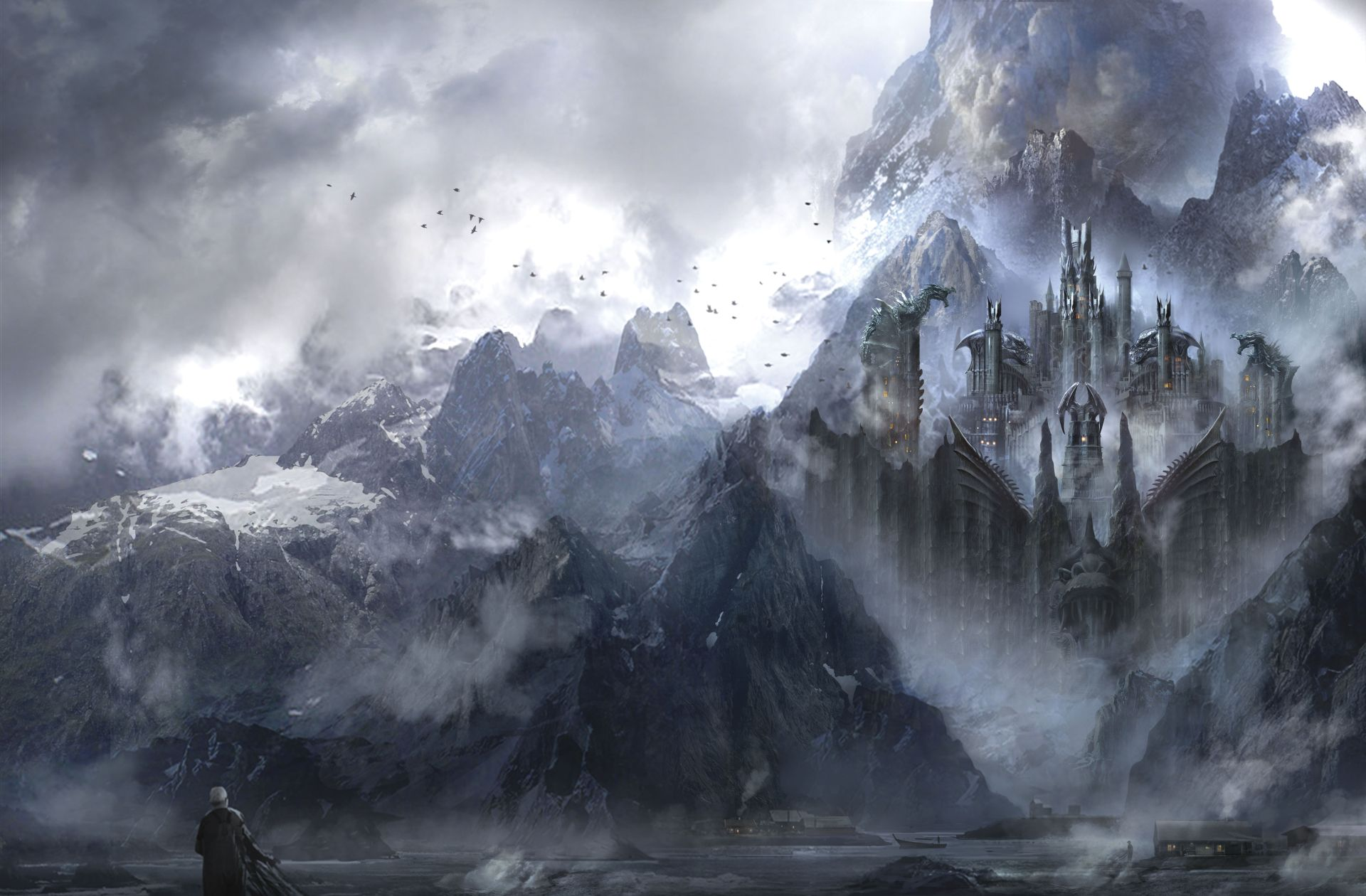 Game of Thrones Landscape mountain town