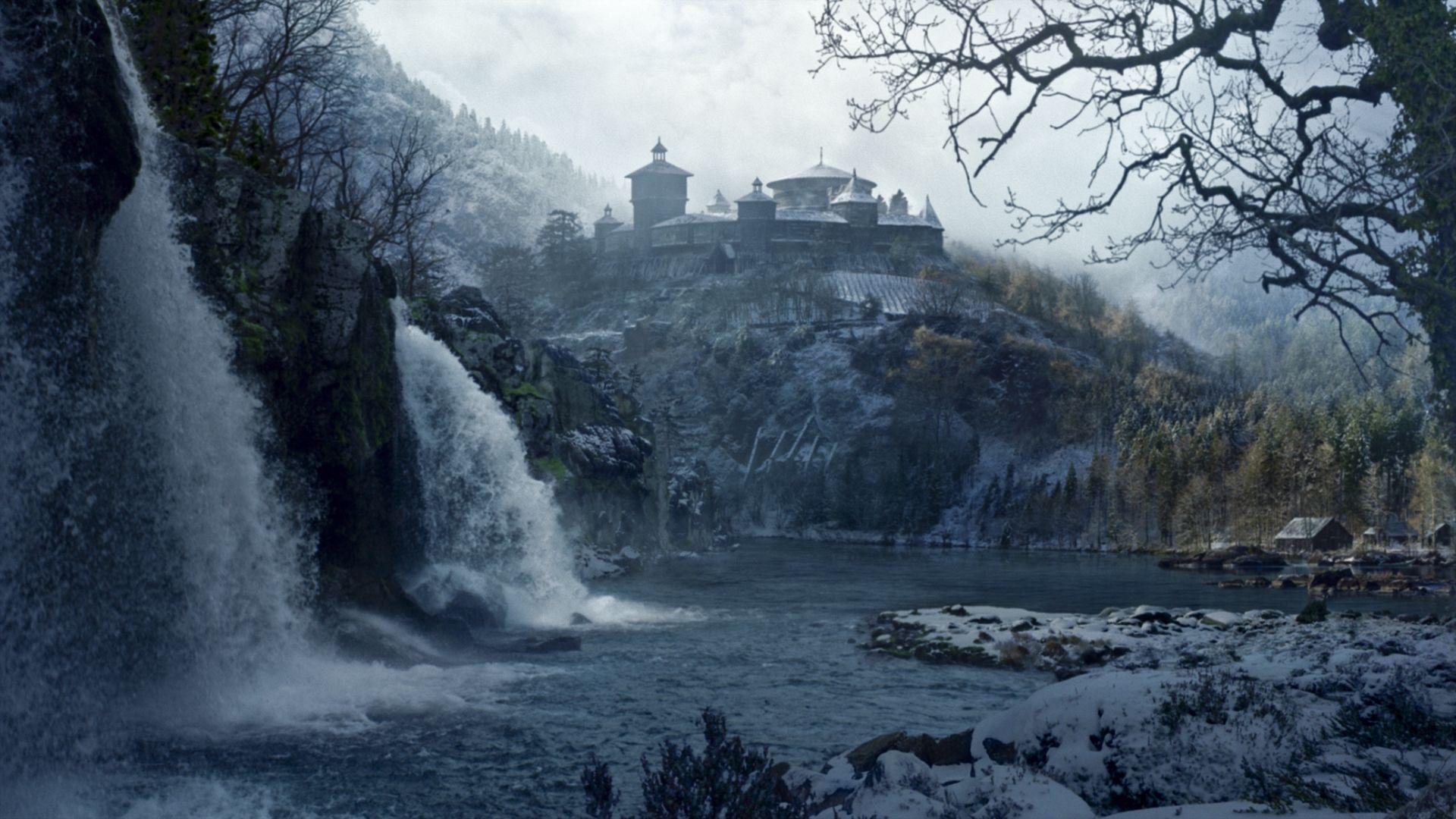 Game of Thrones landscape winter castle