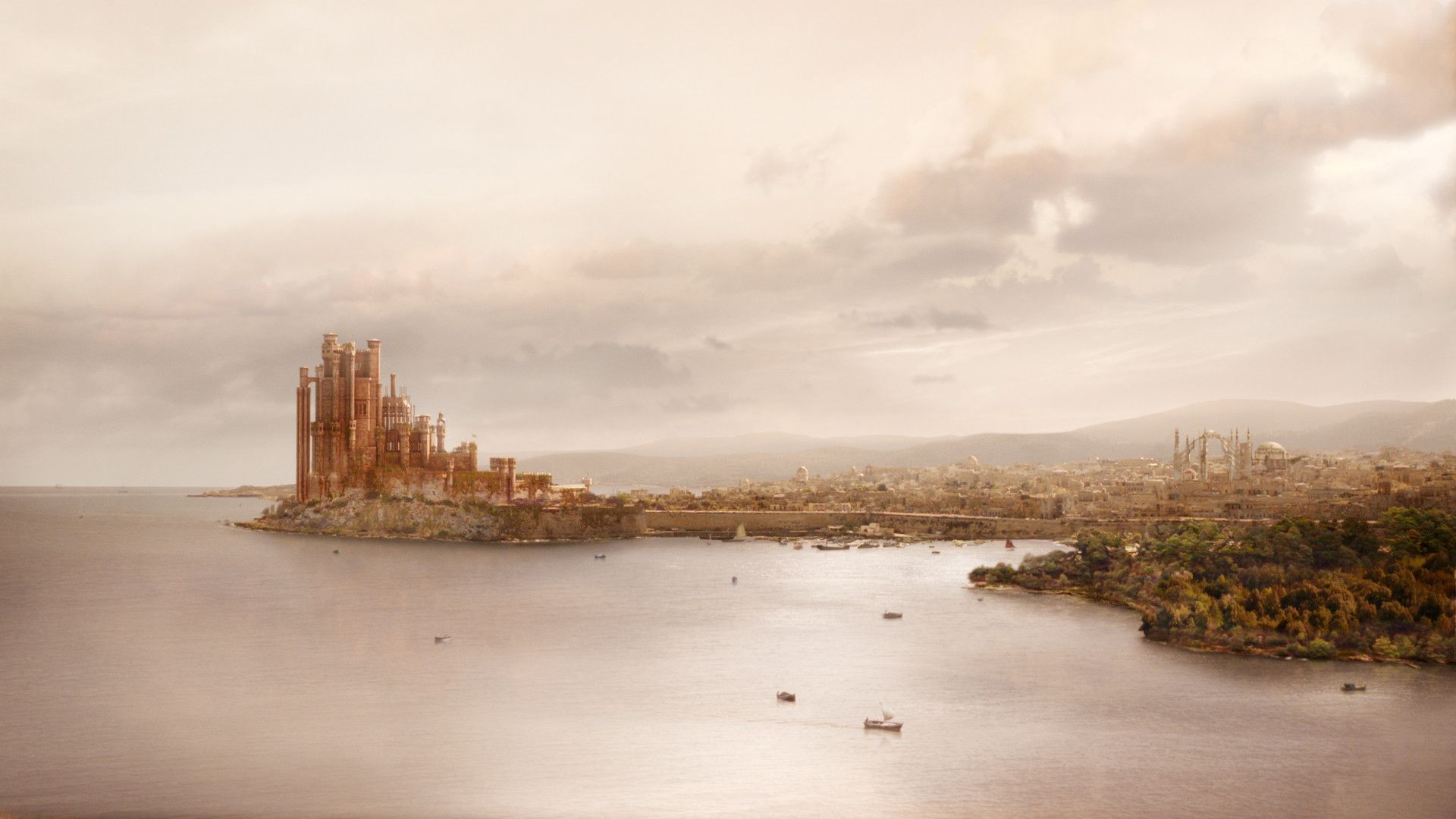 Game of Thrones landscape castle