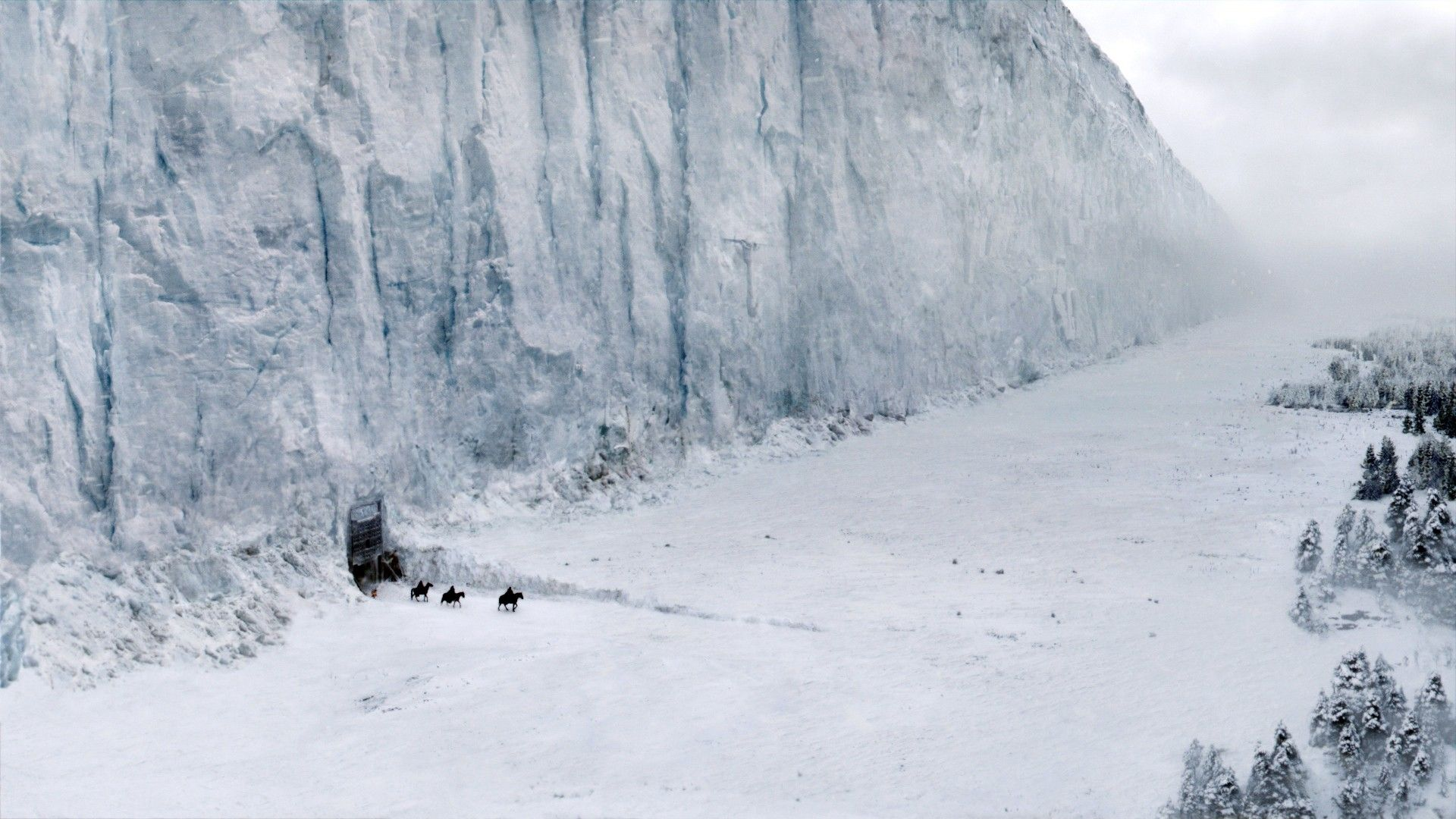 Game of Thrones landscape snow wall