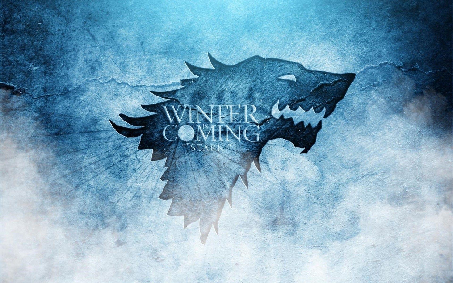Game of Thrones Blue Art Sigil House Stark