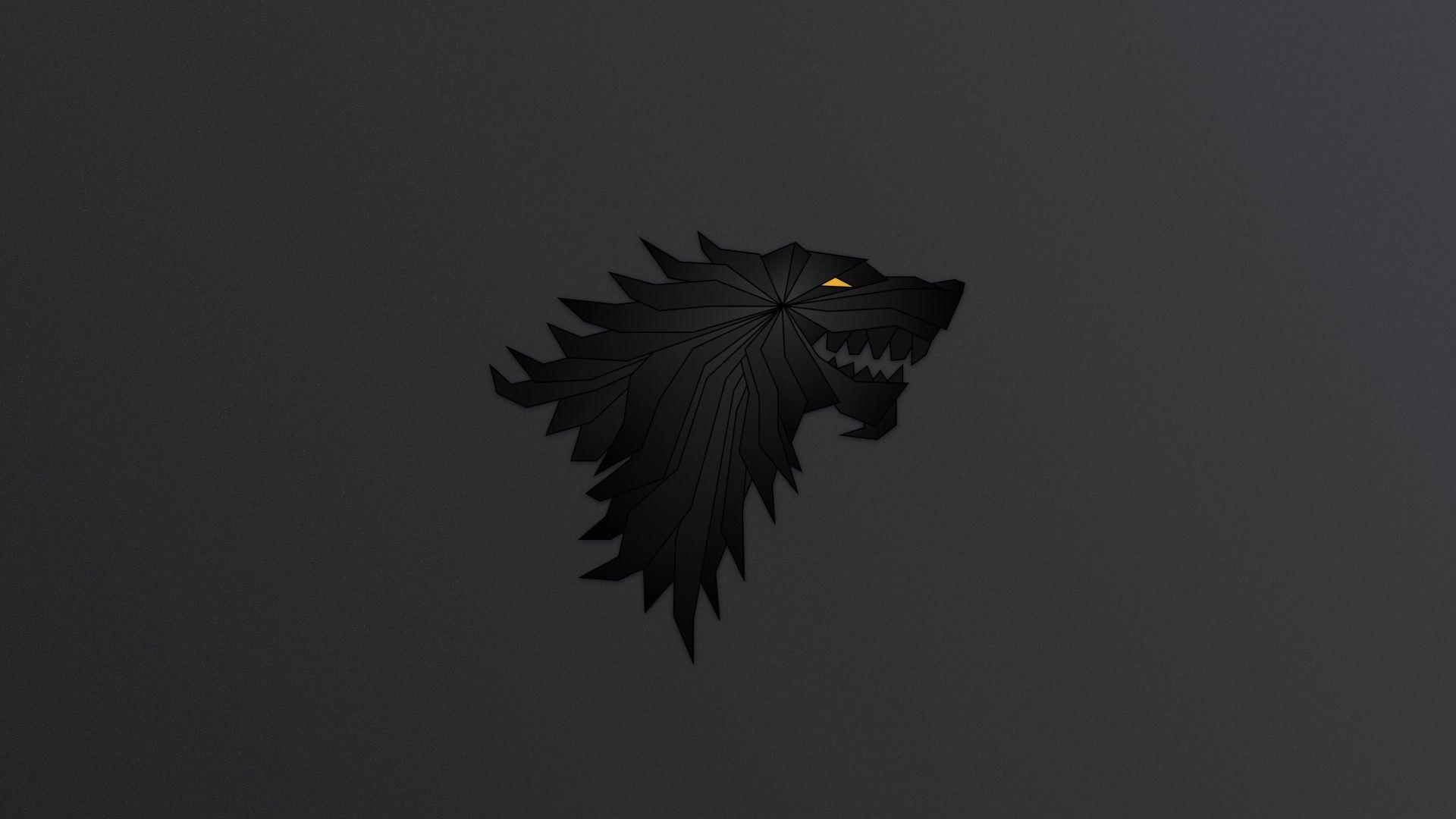 Game of Thrones Dark Art Sigil House Stark