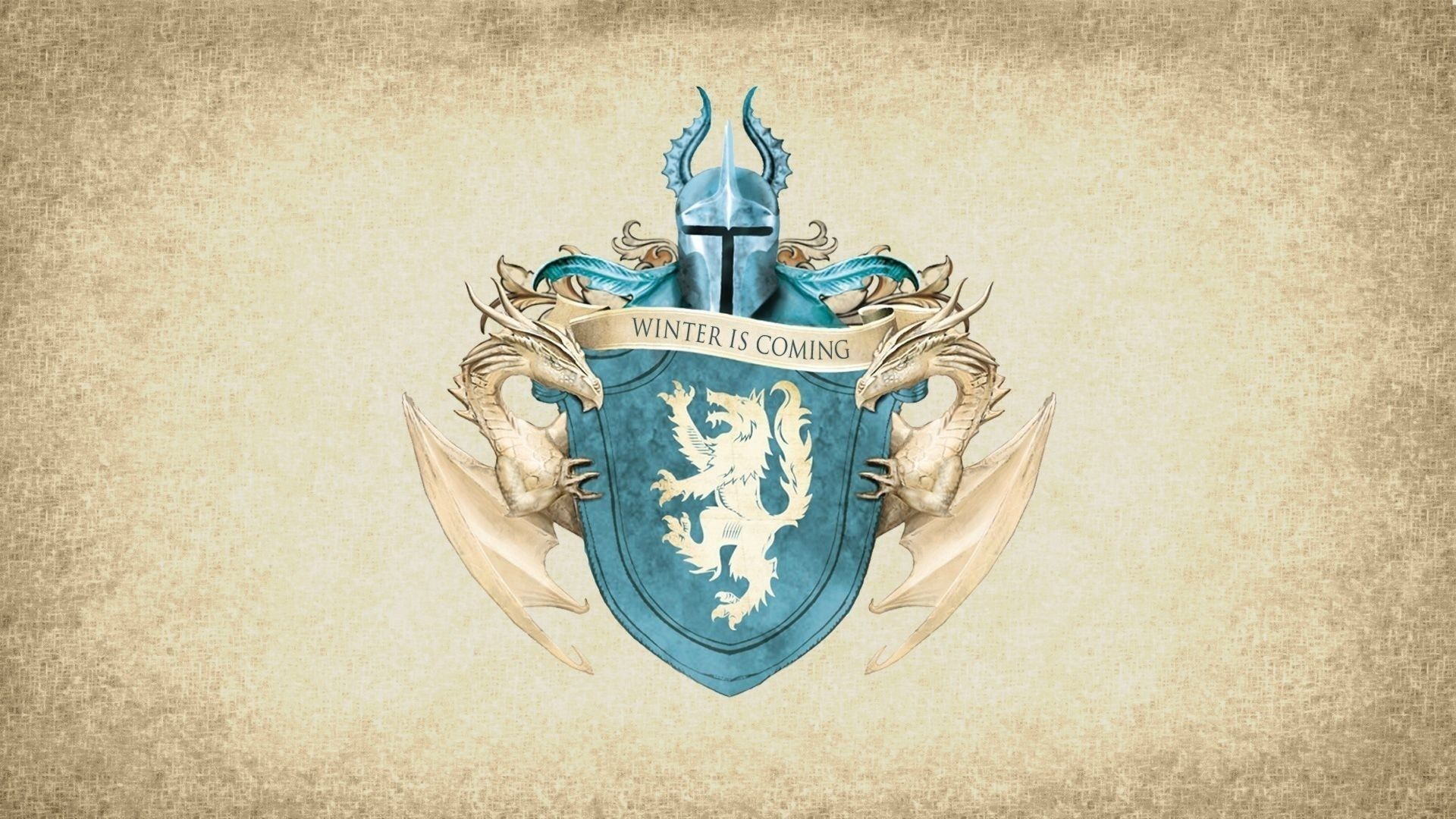 Game of Thrones Blue Sigil Lannister House Banner