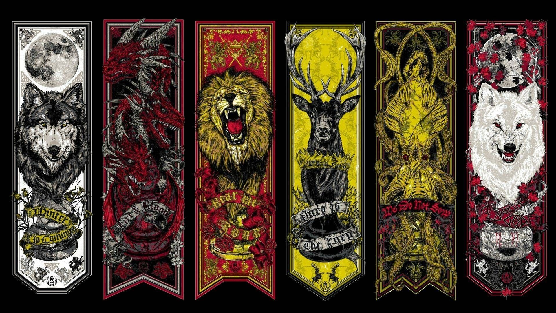 Game of Thrones House Sigils Banners