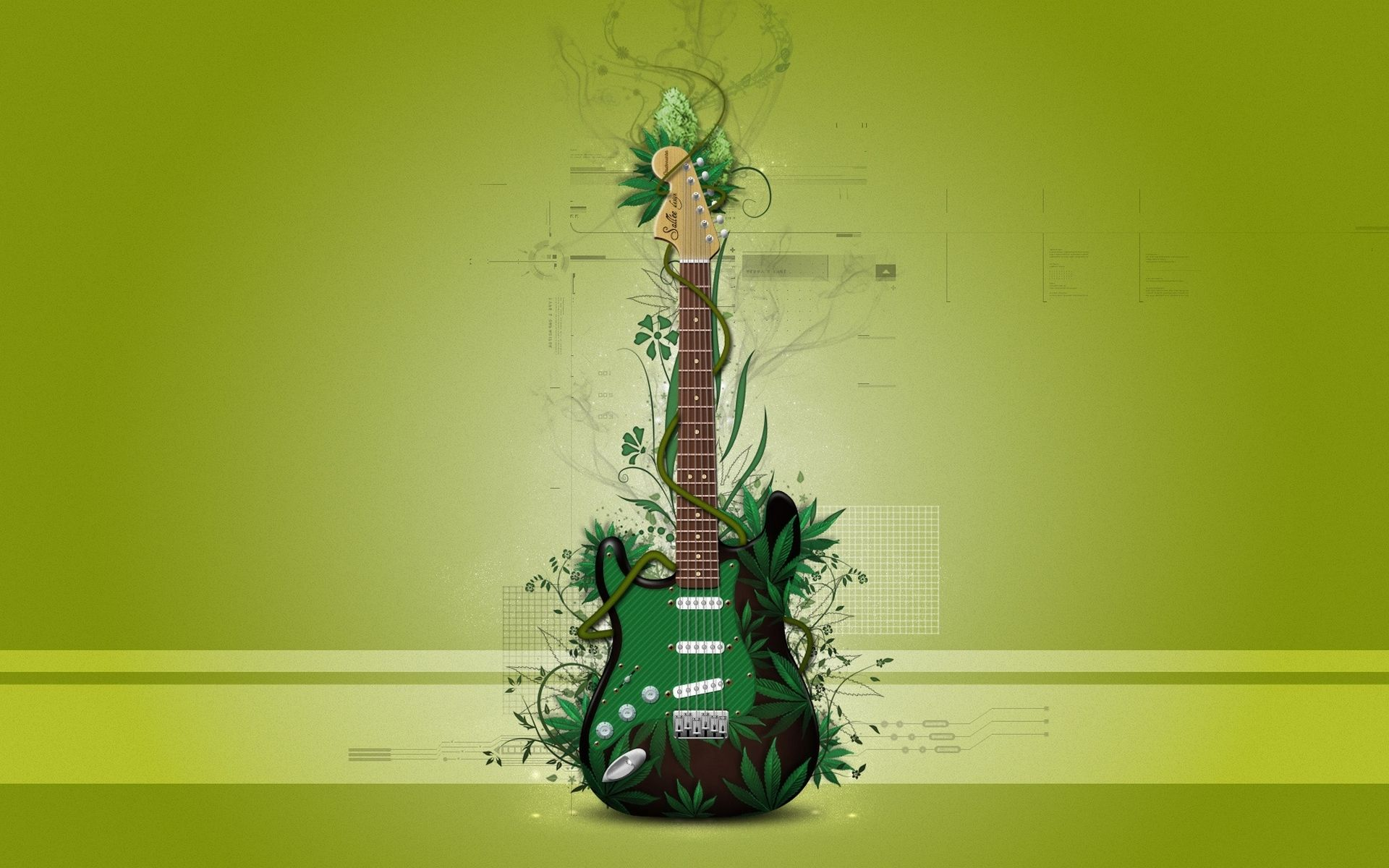 Guitar Abstract, Wallpaper