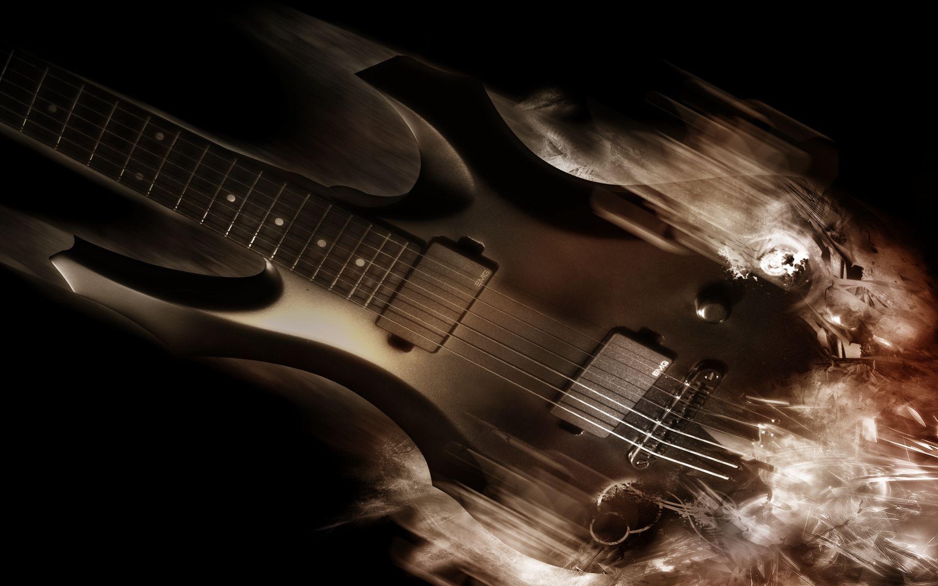 Guitar Abstract, Computer Wallpaper