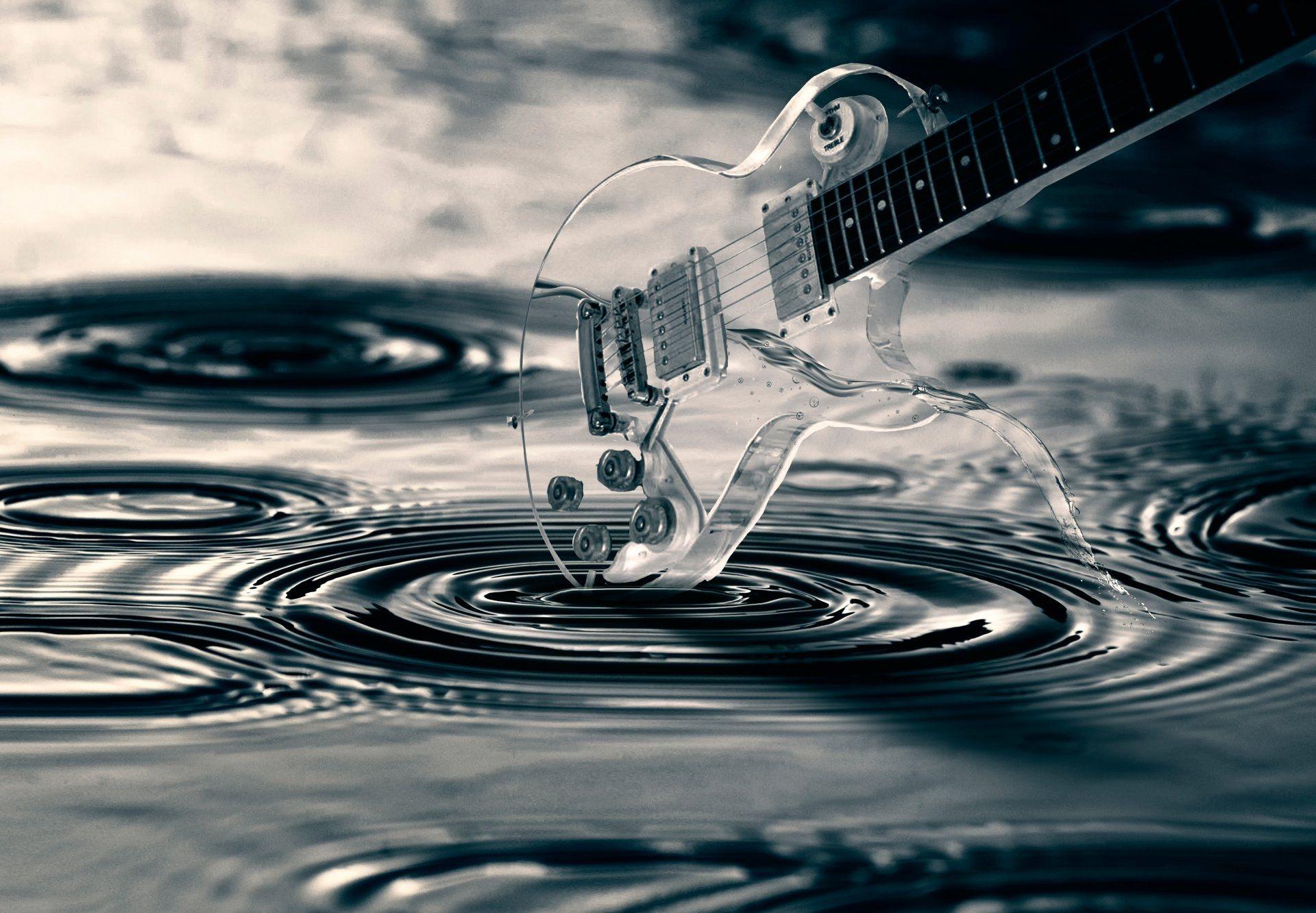 Guitar Abstract, Nice Wallpaper