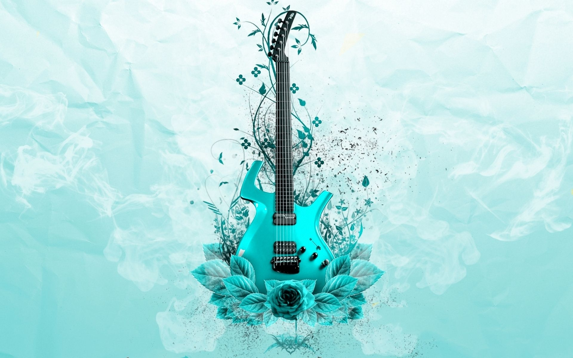 Guitar Abstract, Desktop Wallpaper