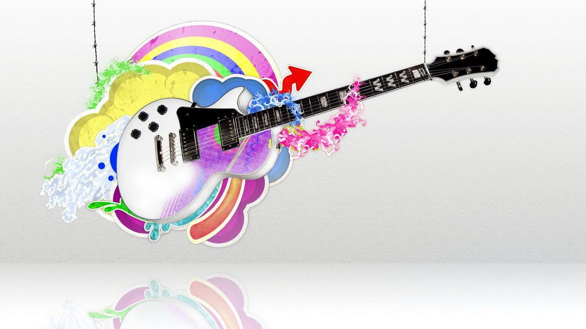 Guitar Abstract, 1080p Wallpaper