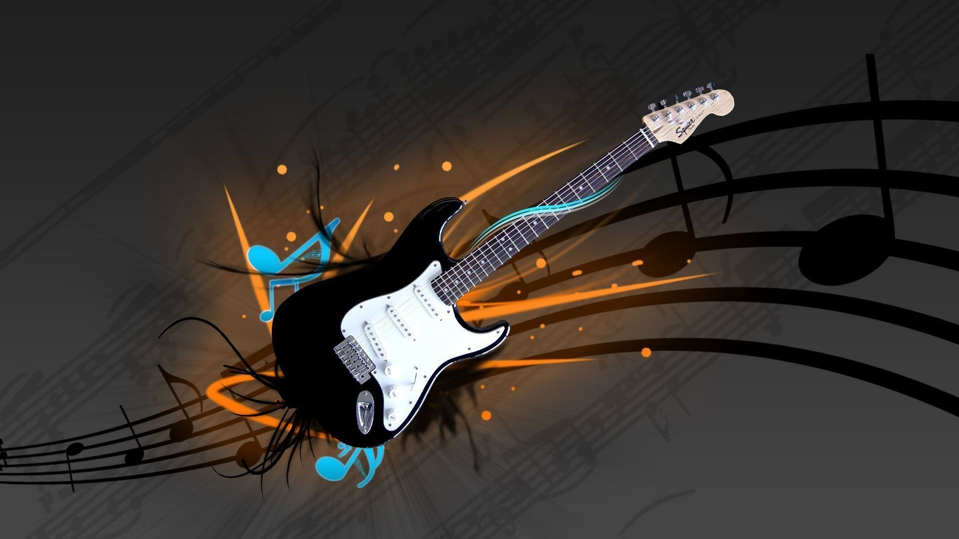 Guitar Abstract, Wallpaper Image