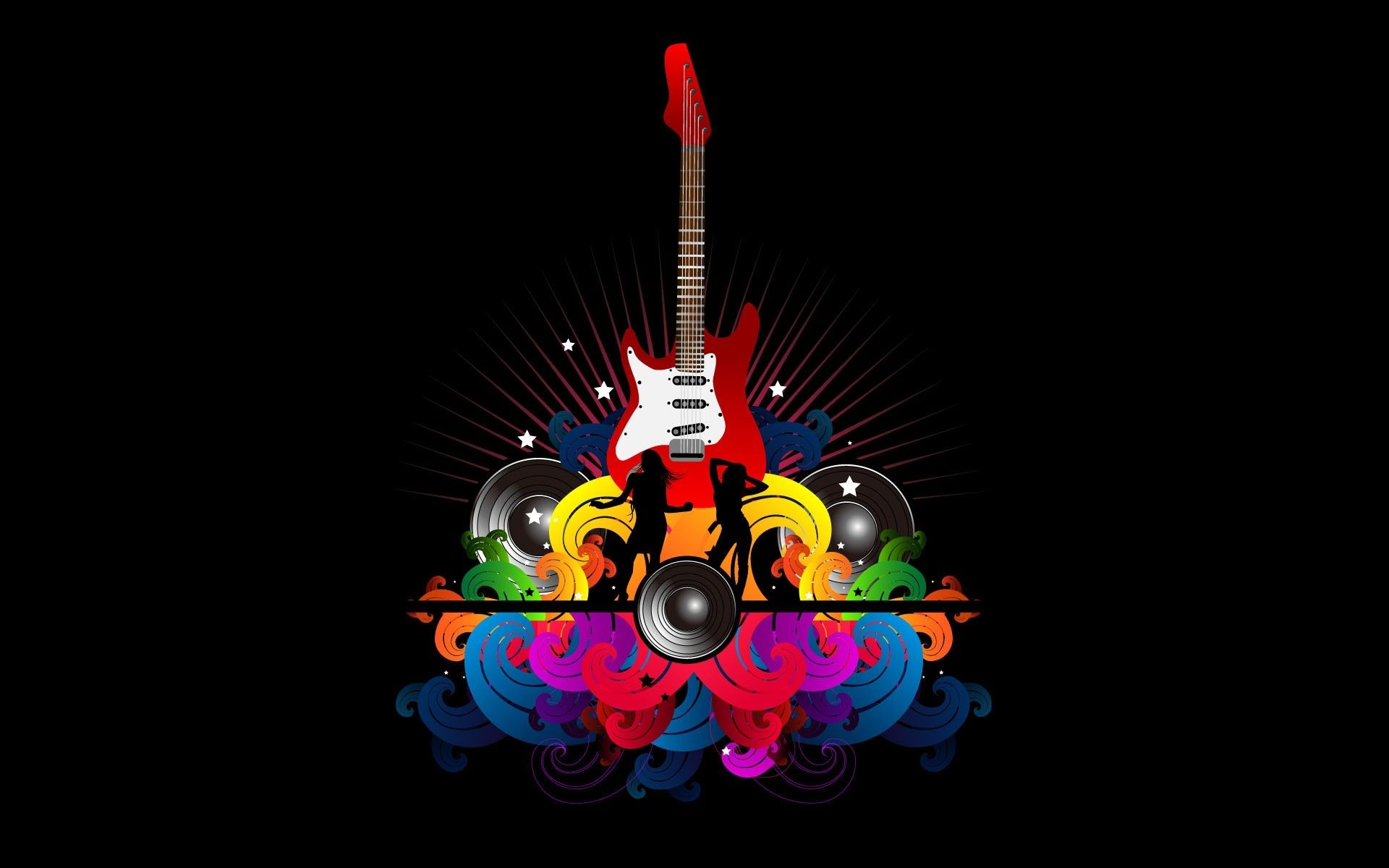 Guitar Abstract, Good Wallpaper