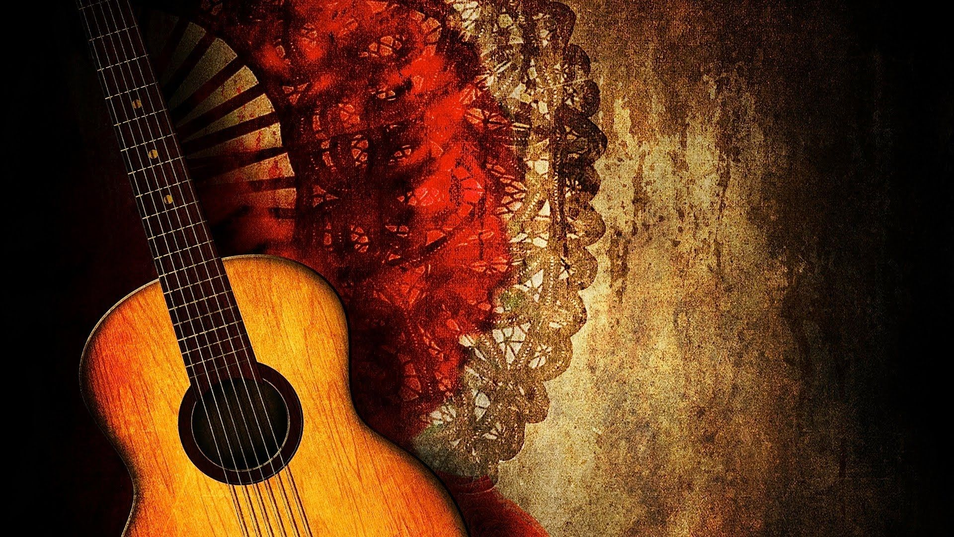 Guitar Abstract, Free Download Wallpaper