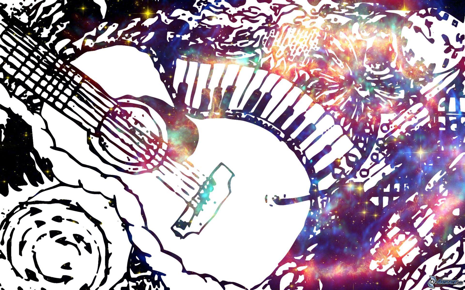 Guitar Abstract, Best Wallpaper