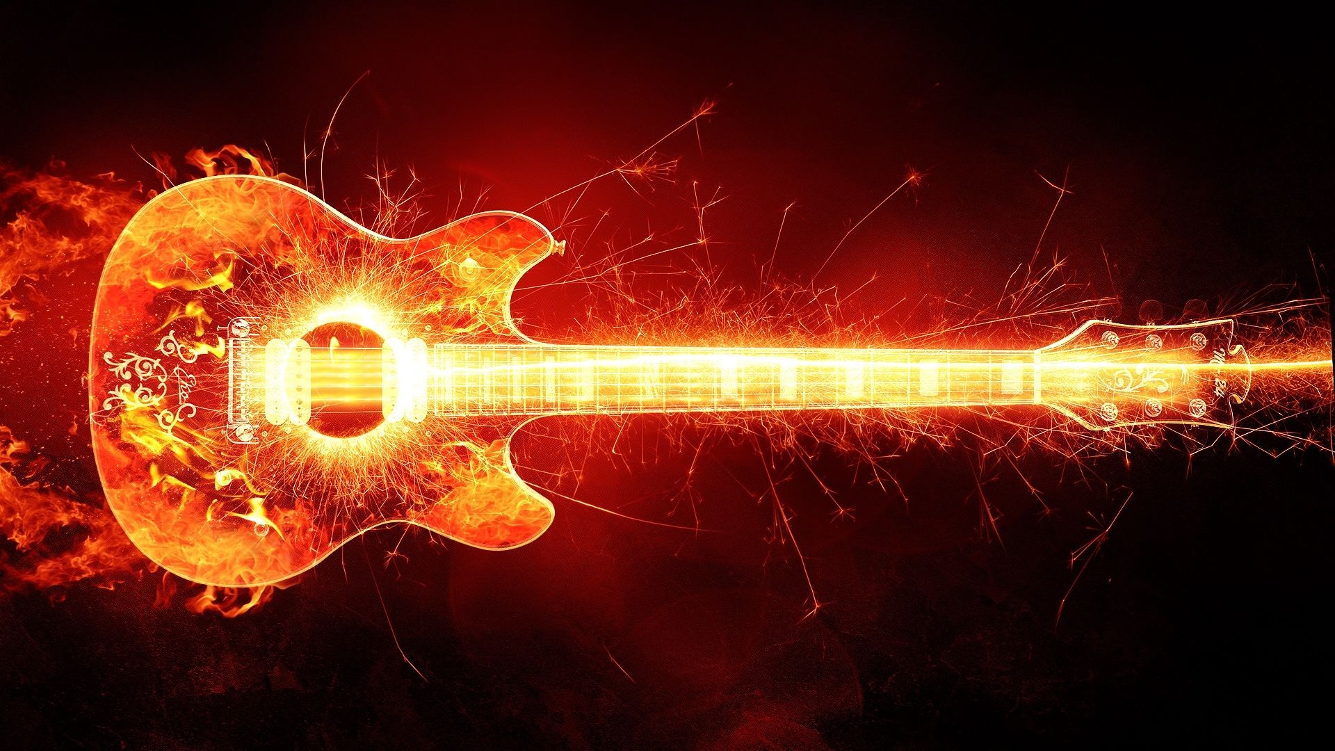Guitar Abstract, HD Wallpaper 1080