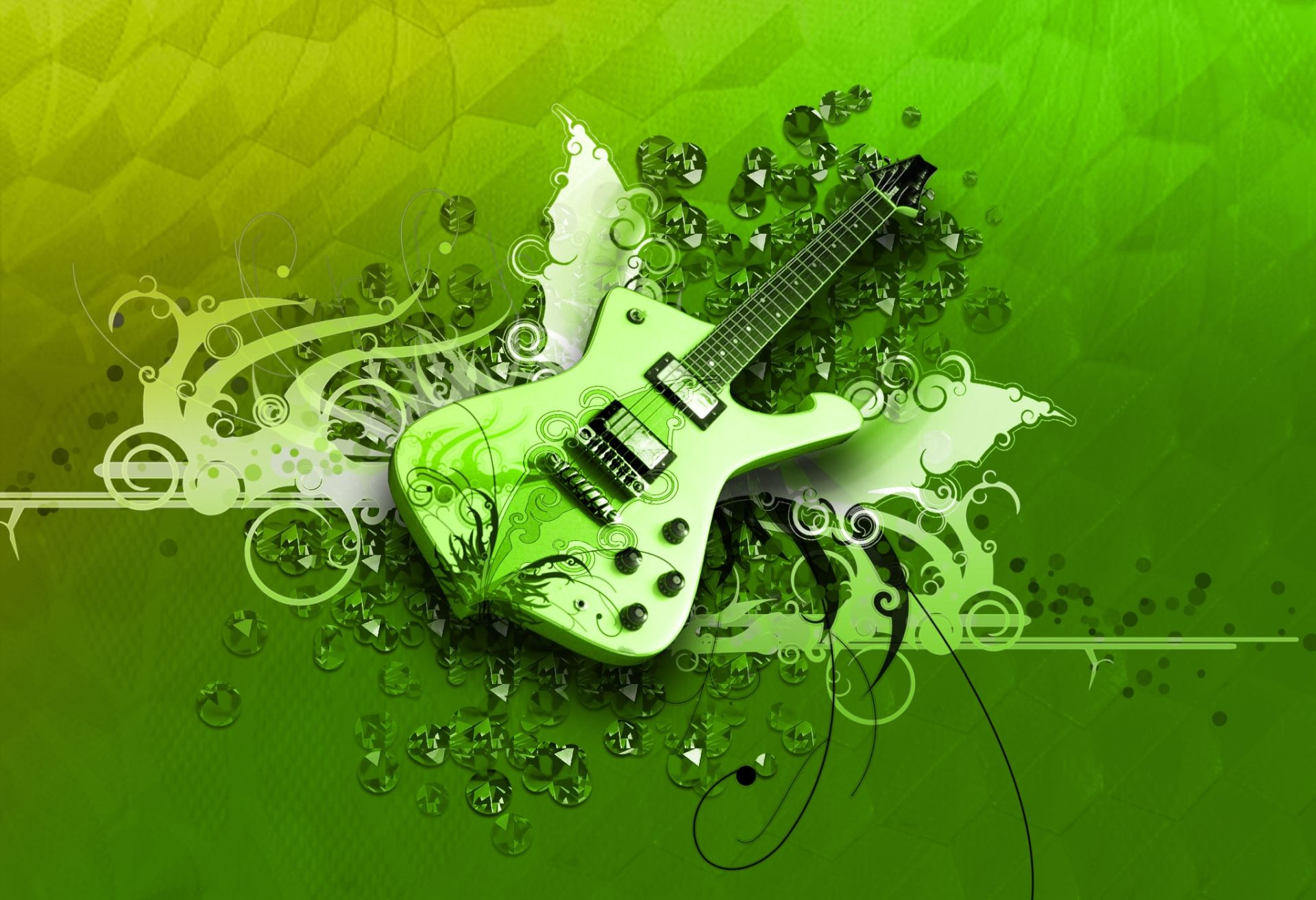 Guitar Abstract, HD Wallpaper